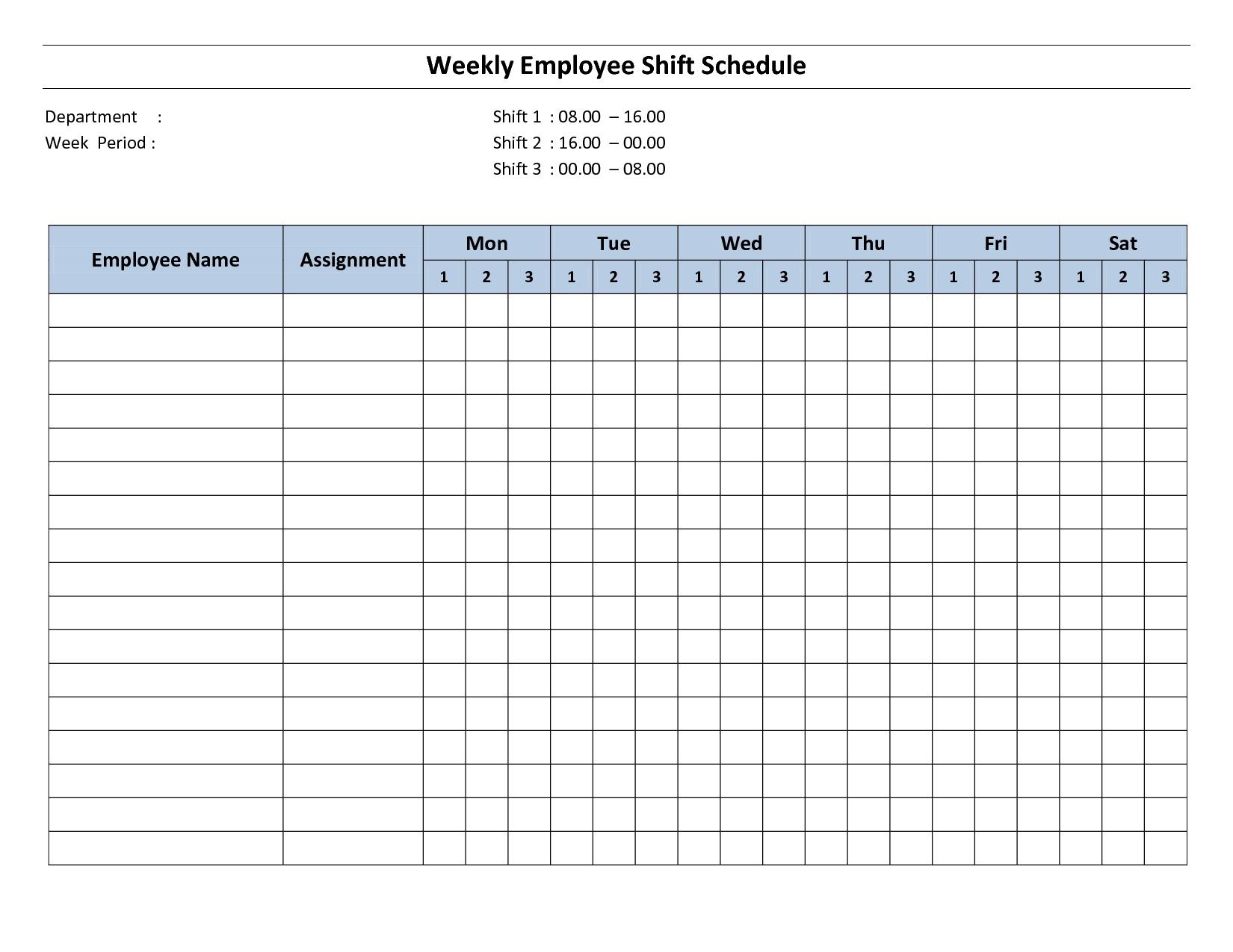 Take Free Printable Employee Work Schedules