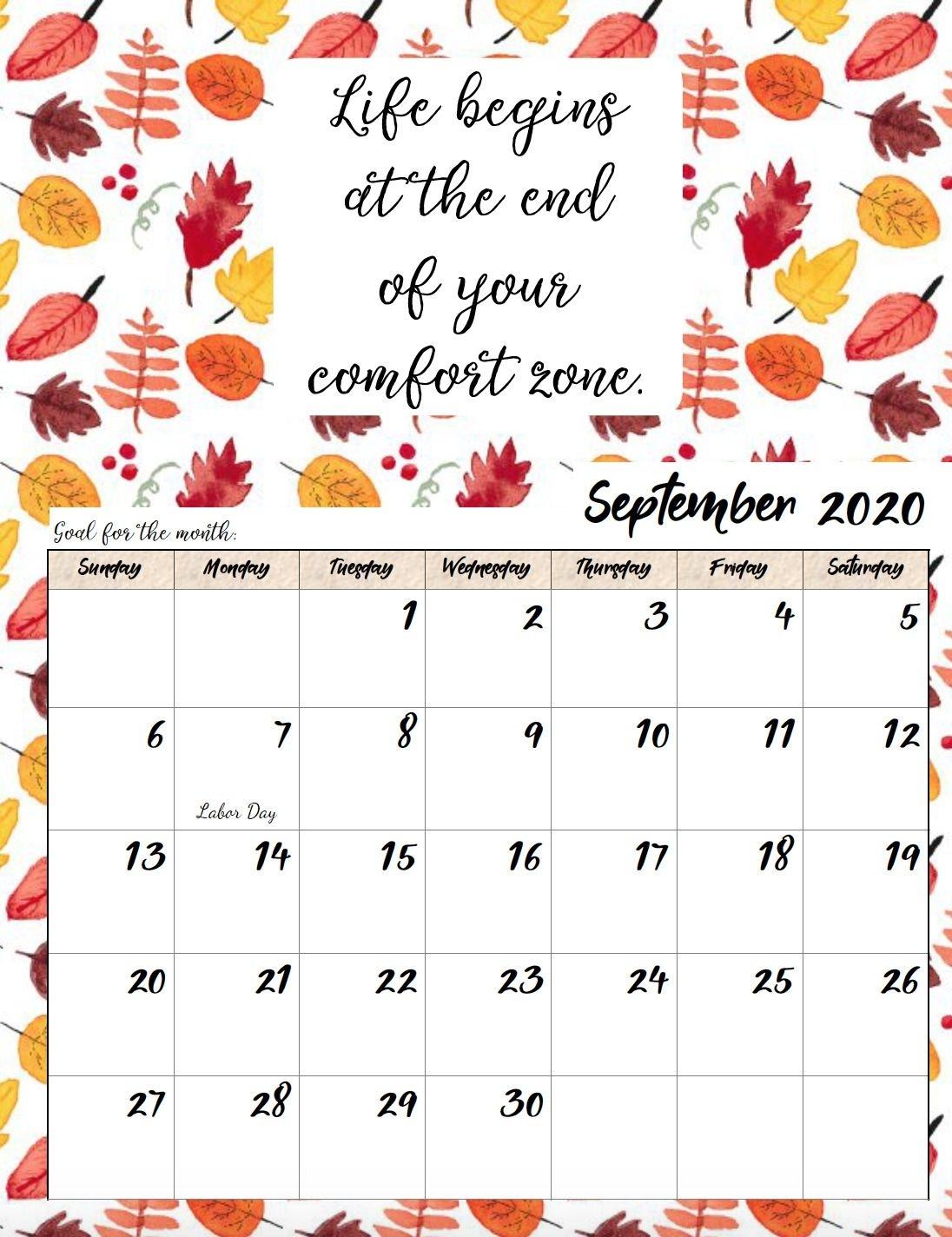Take Free Printable Inspirational Calendar