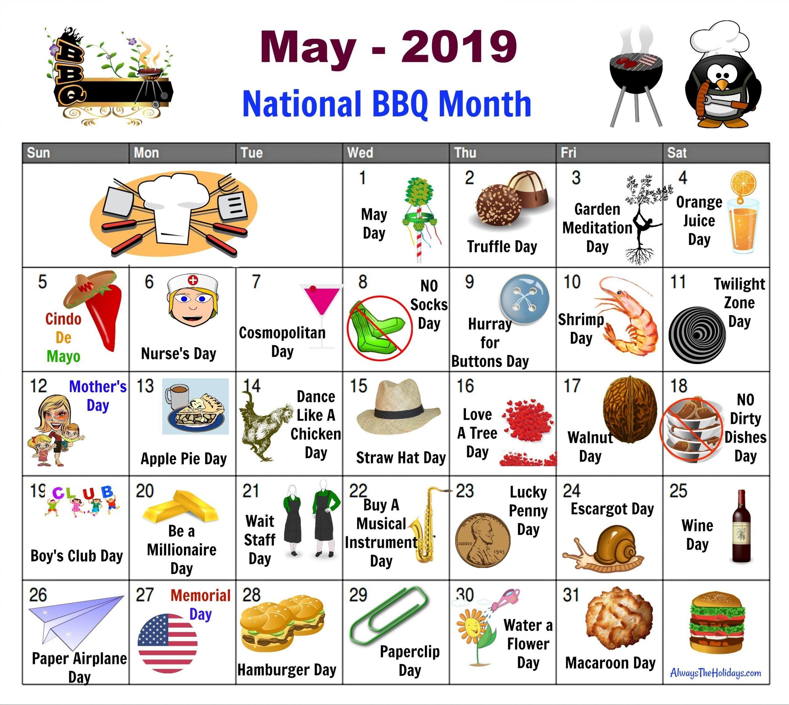 Take Free Printable National Day Calendar