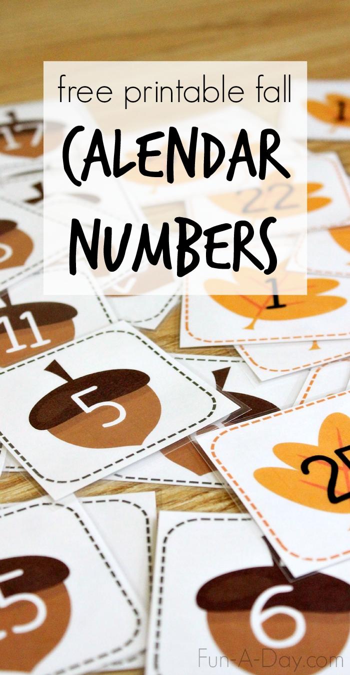 Take Free Printable Thanksgiving Calendar Numbers 1 31