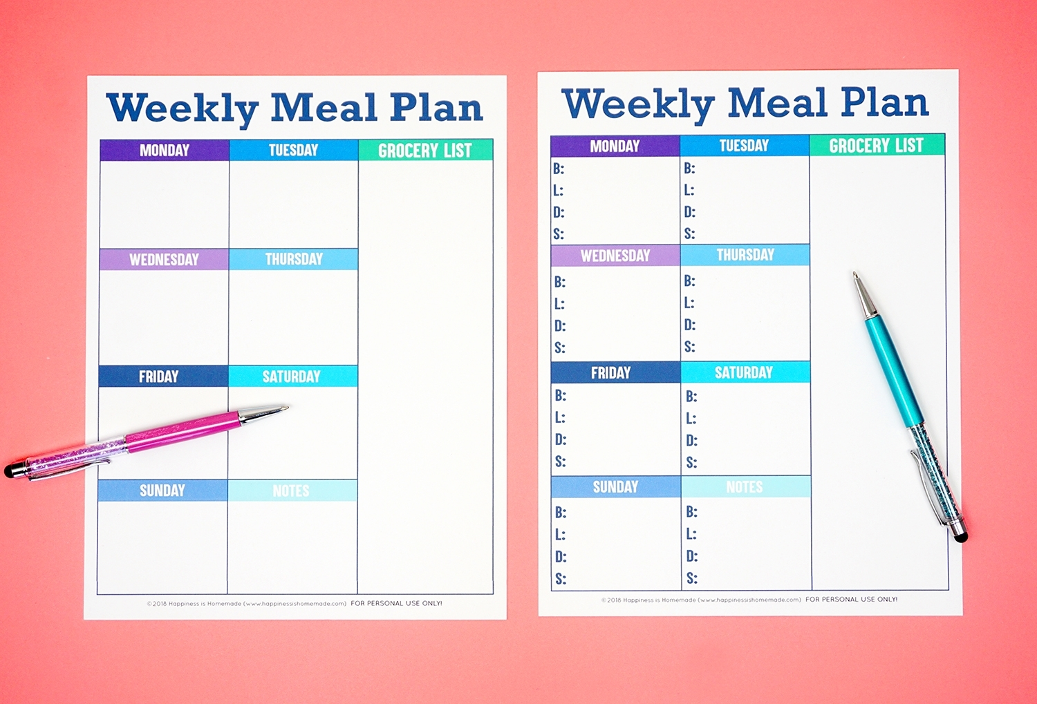 Take Free Printable Weekly Schedule Template