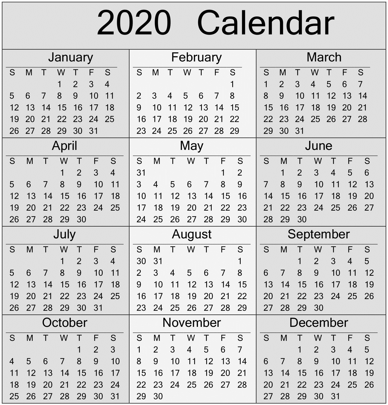 Take Free Printable Yearly Calendar Without Download
