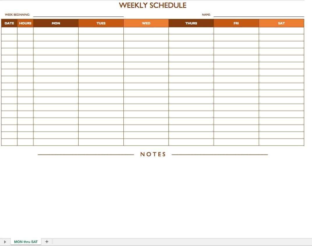 Take Free Work Schedule