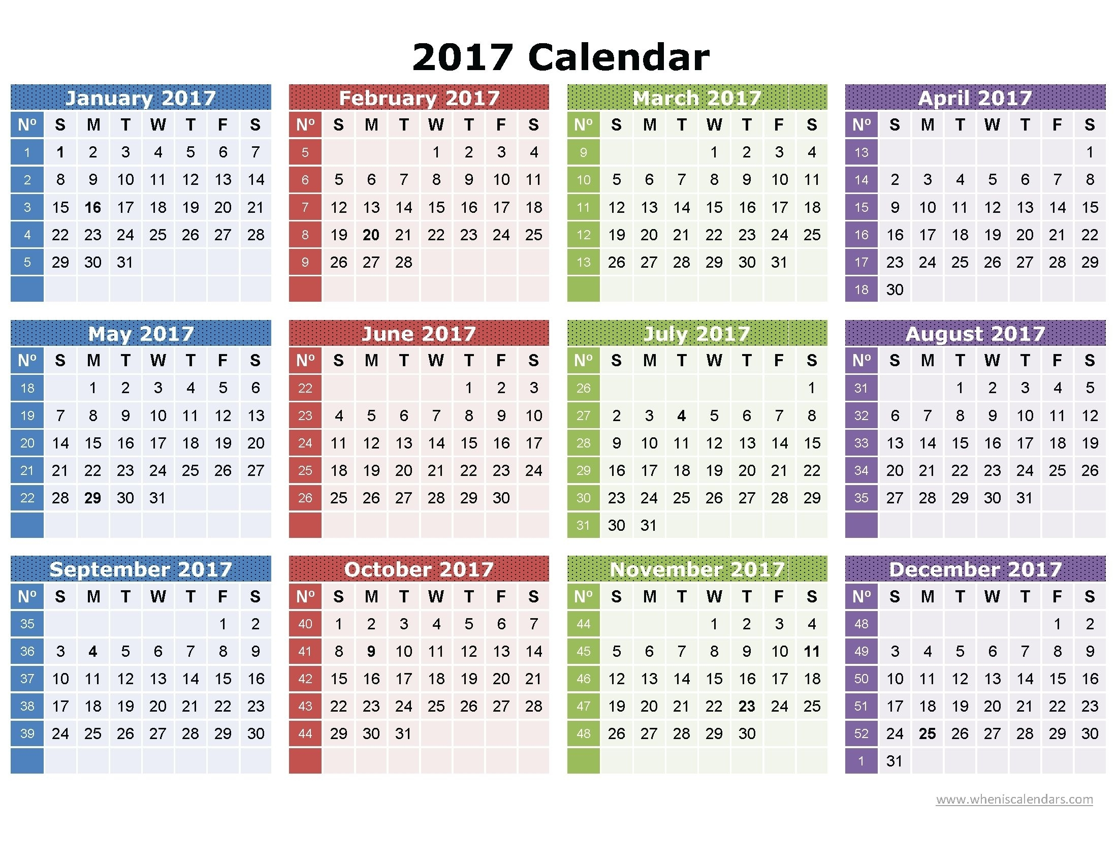 Take Full Size Blank Printable Calendar