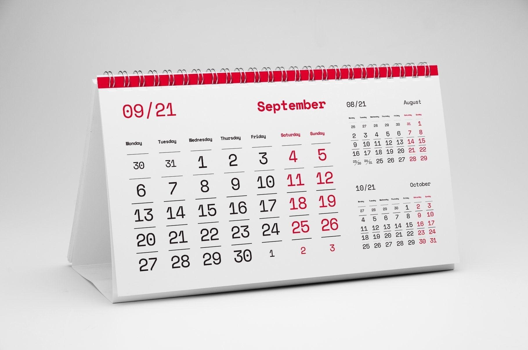 Take Funny August 2021 Desktop Calendar