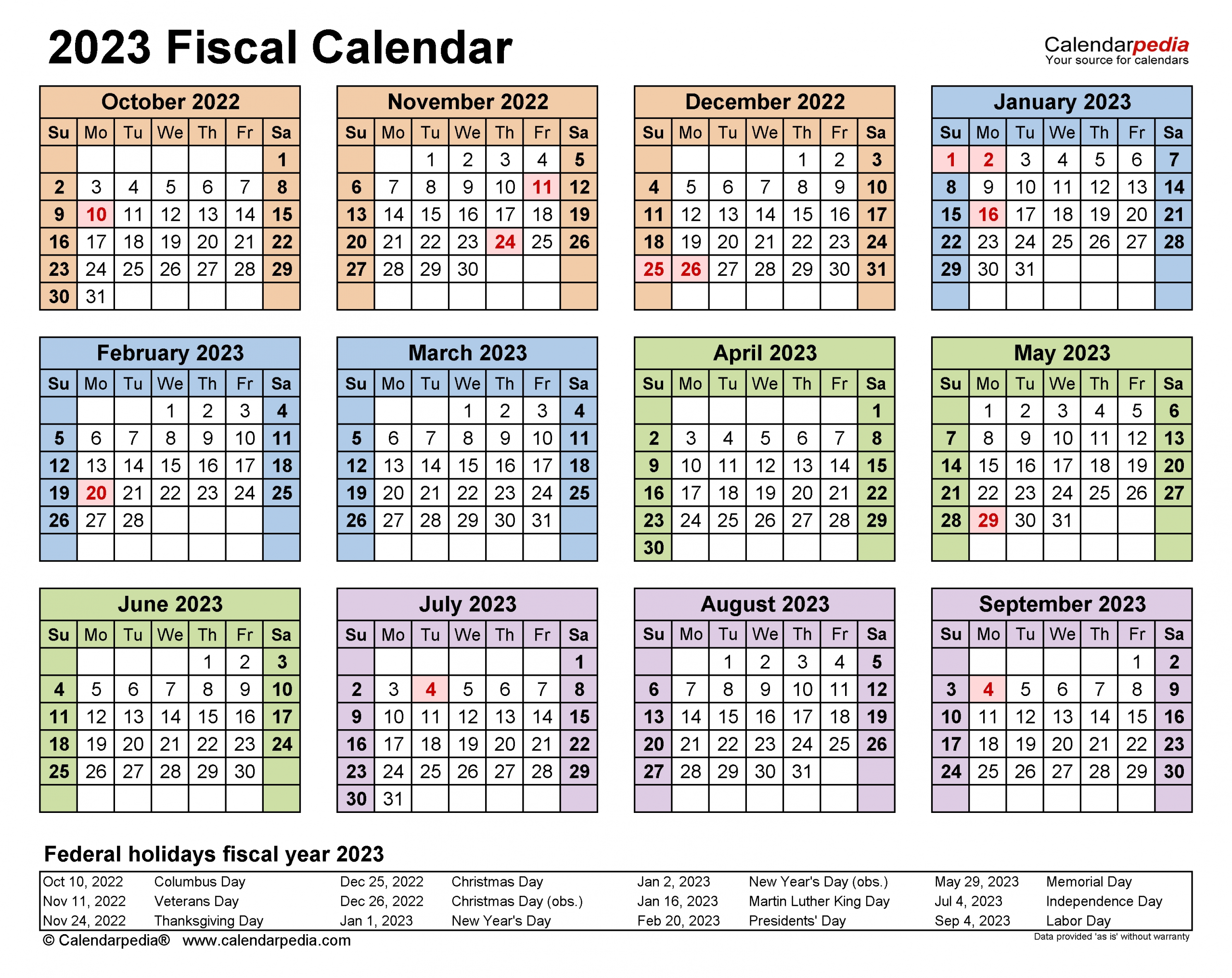 Take Government 2023 Fiscal Calendar