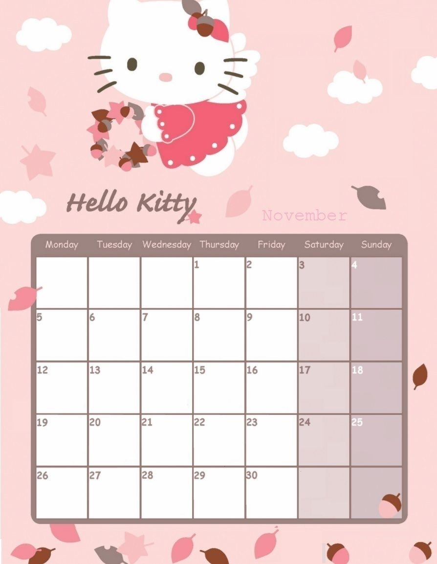 Take Hello Kitty 2021 June Printable Calendar Page
