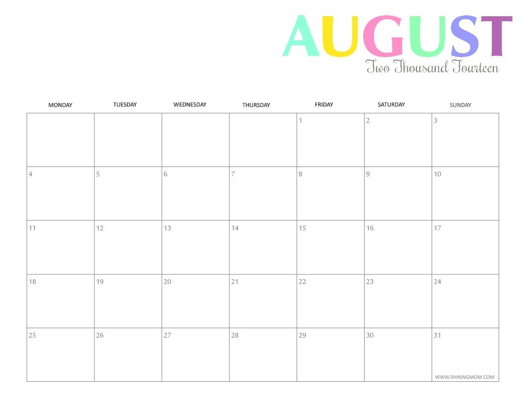 Take Imom August 2021 Calendar