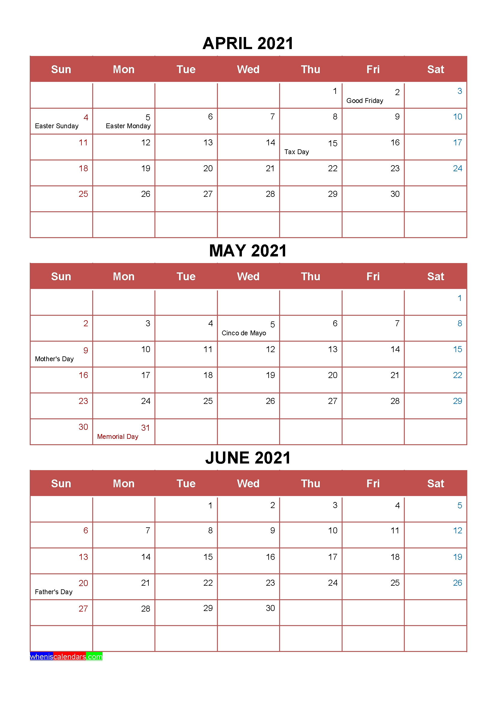Take Jan Feb Mar Apr Printable Calendar 2021