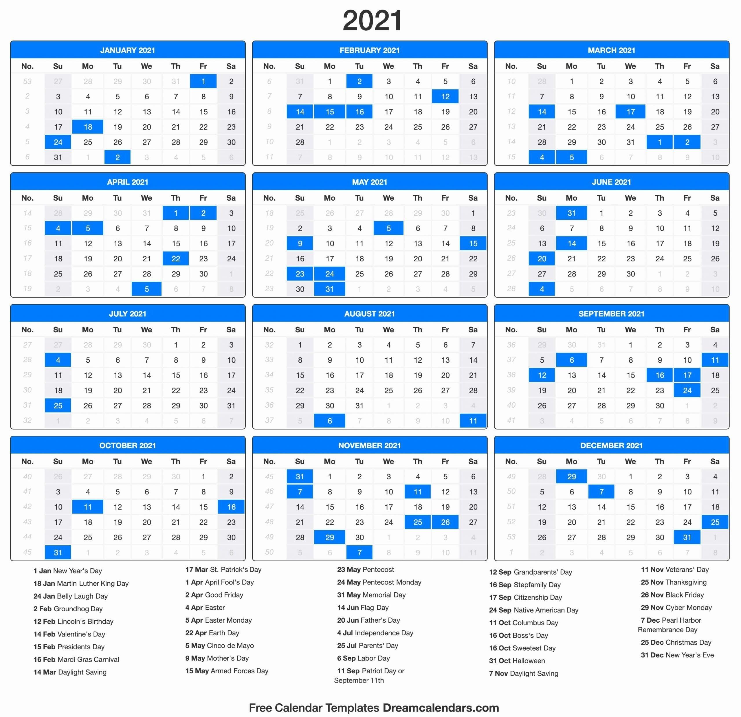 Take Jewish Calendar 2021 With Holidays Printable