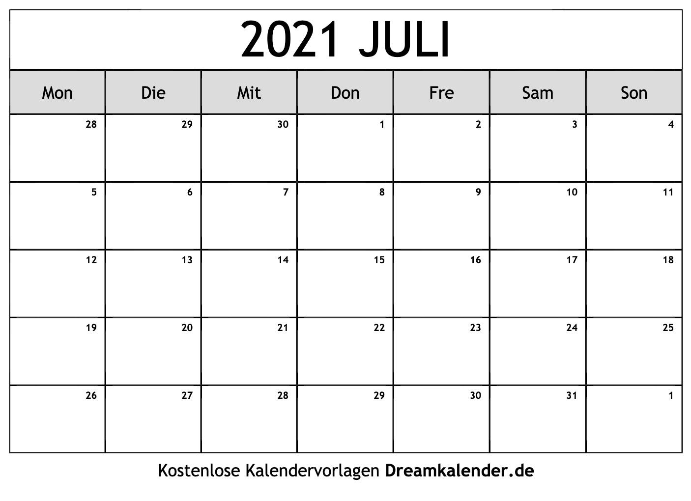 Take Juli 2021 Kalender