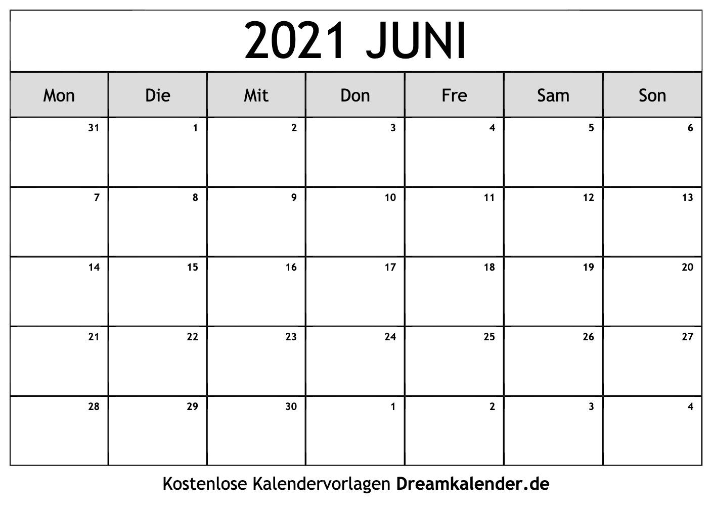 Take Kalender 2021 Juni
