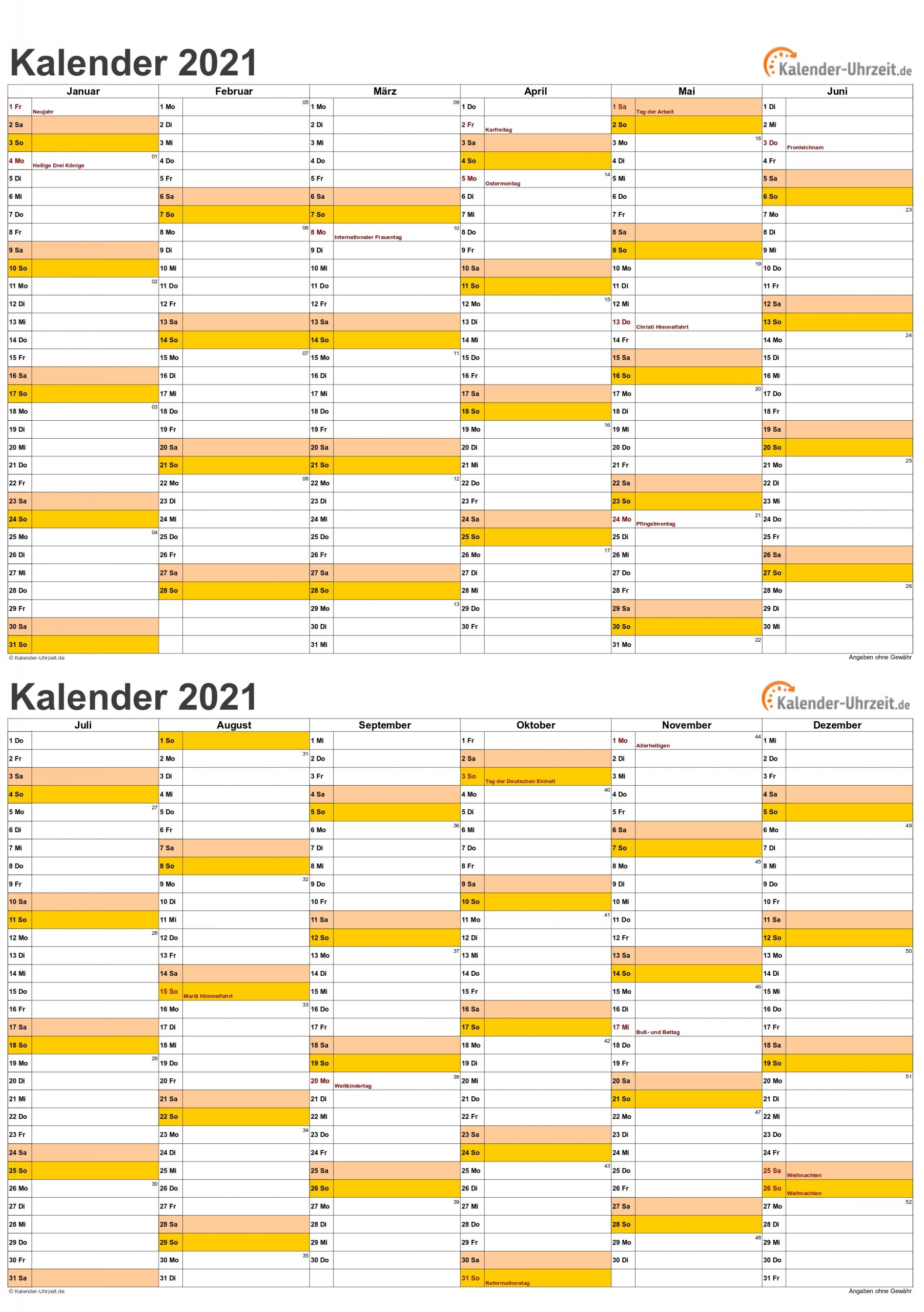 Take Kalender 2021 Zum Ausdrucken Kostenlos Ab Juli