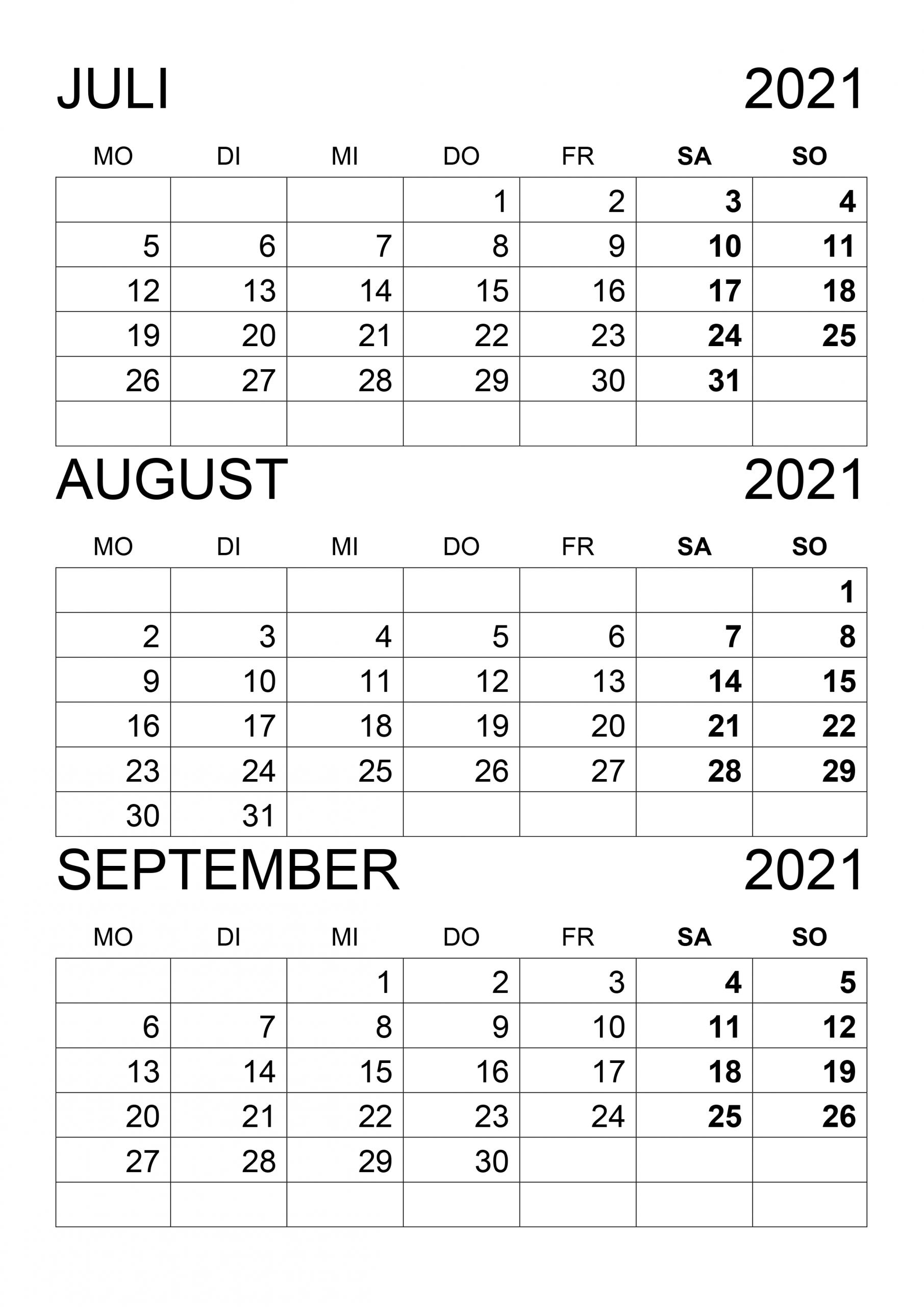 Take Kalender Juli/August 2021