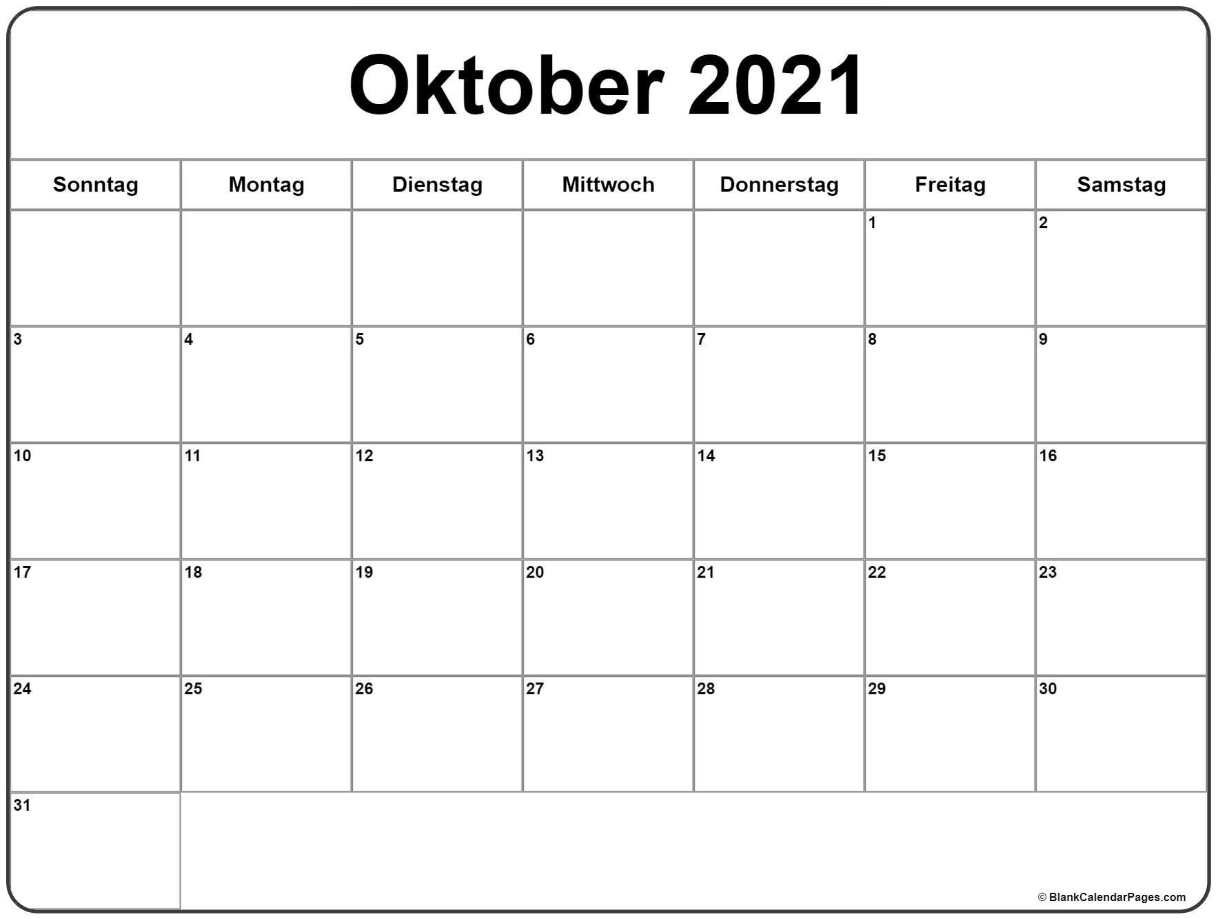 Take Kalender September En Oktober 2021