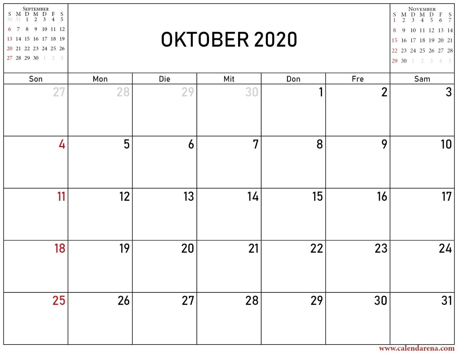 Take Kalender September Oktober November Dezember 2021