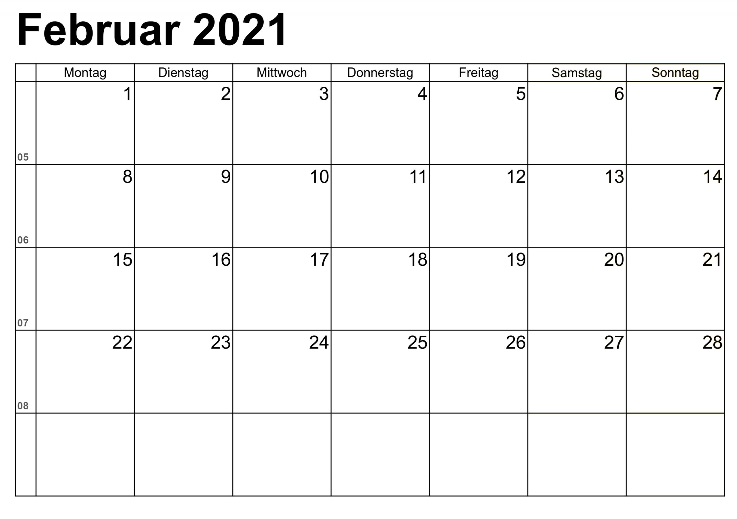 Take Kalenderblätter Monat 2021 Drucken
