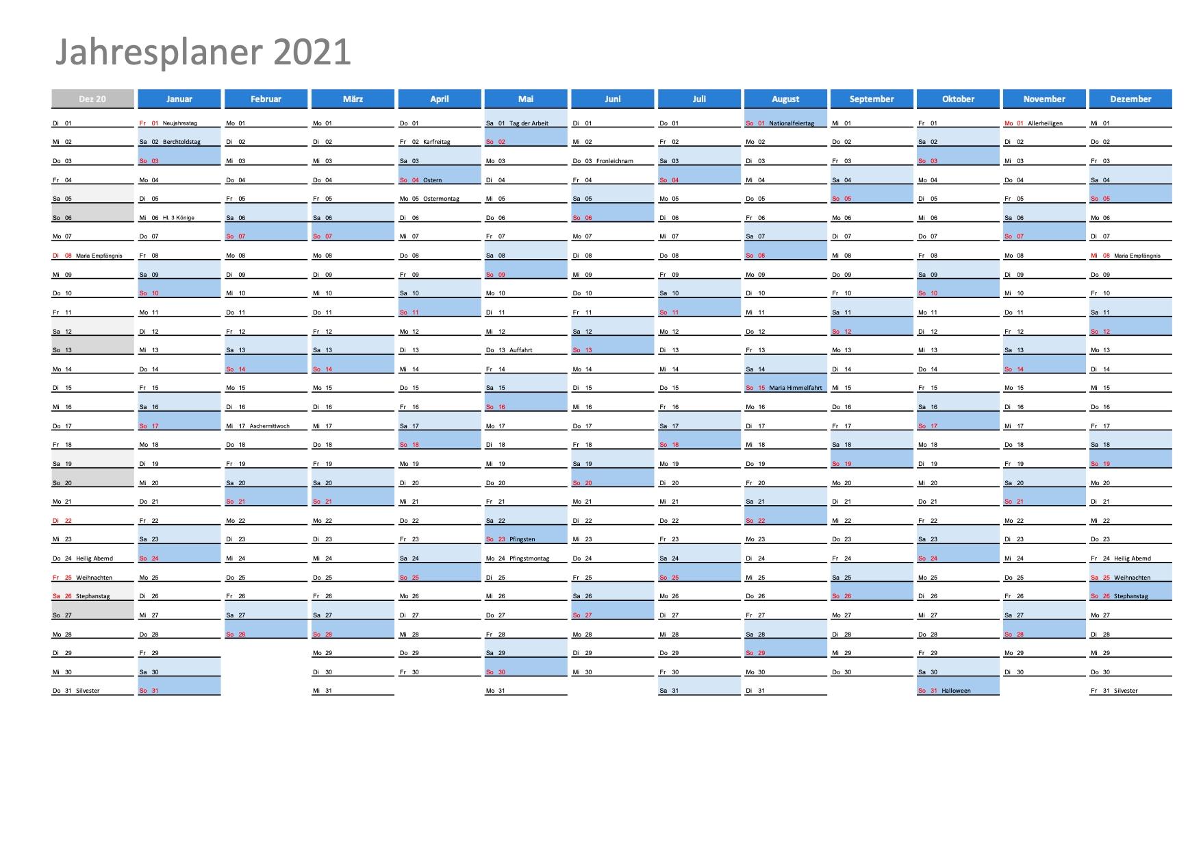 Take Kalenderpedia 2021 Schweiz Pro Monat