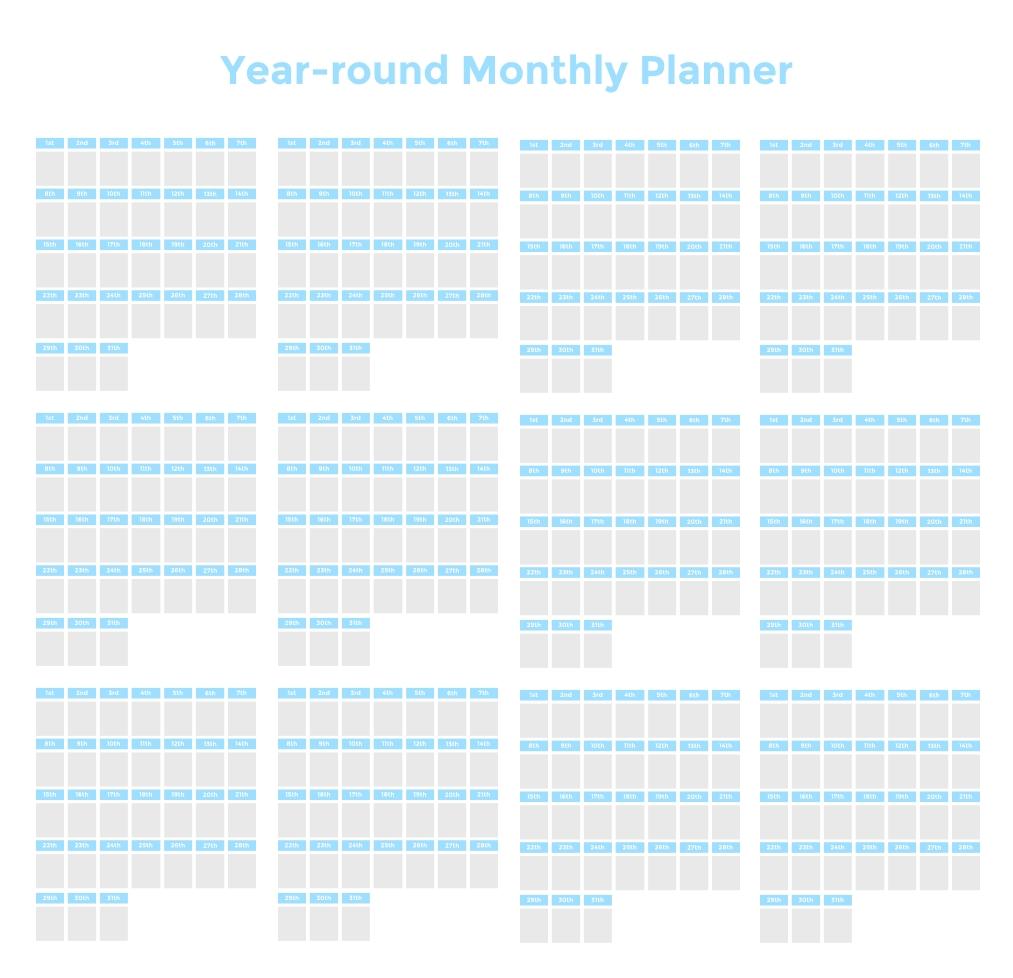 Take Kids Daily 15 Minute Interval Calendar