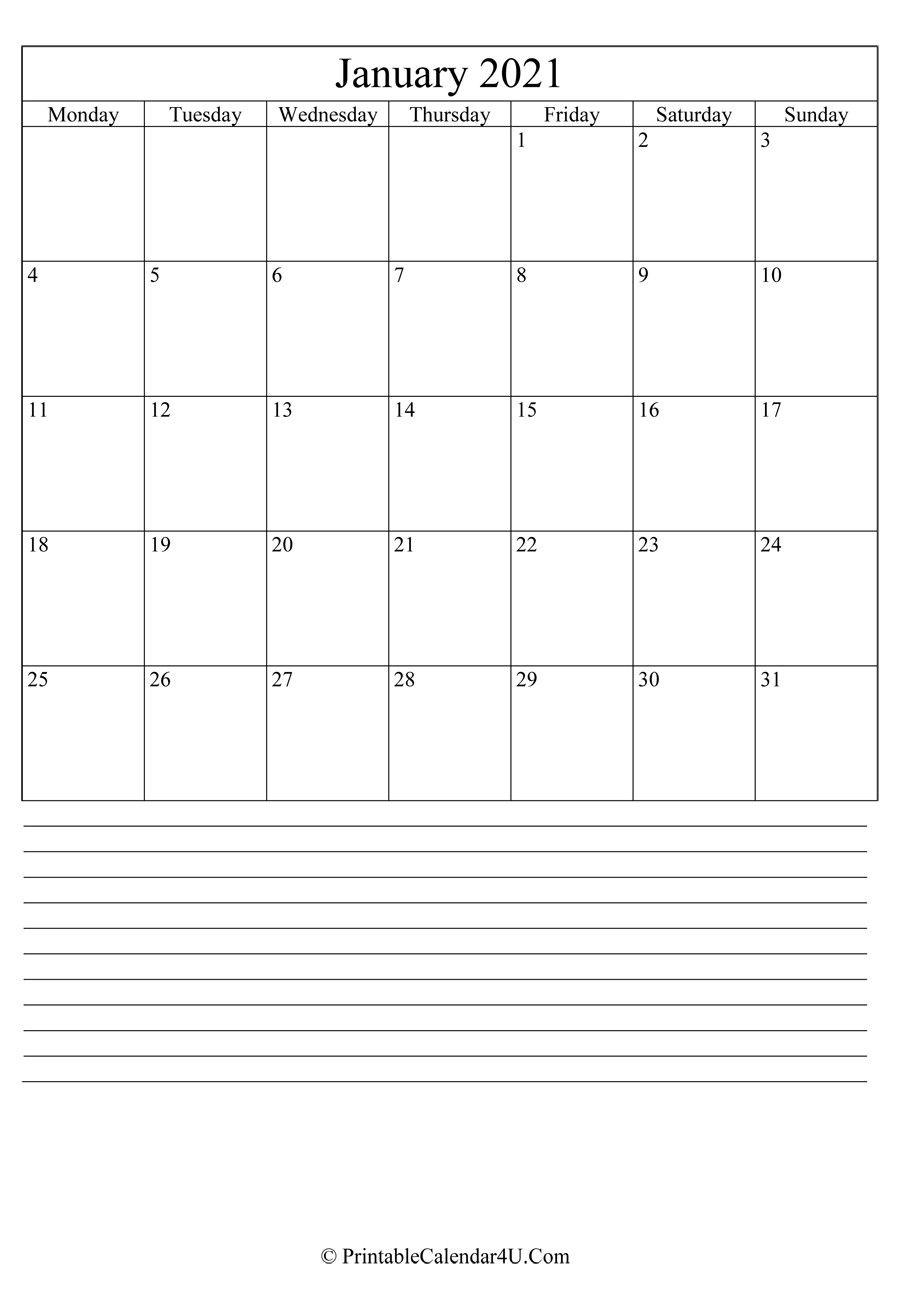 Take Large Box For Calendar 2021