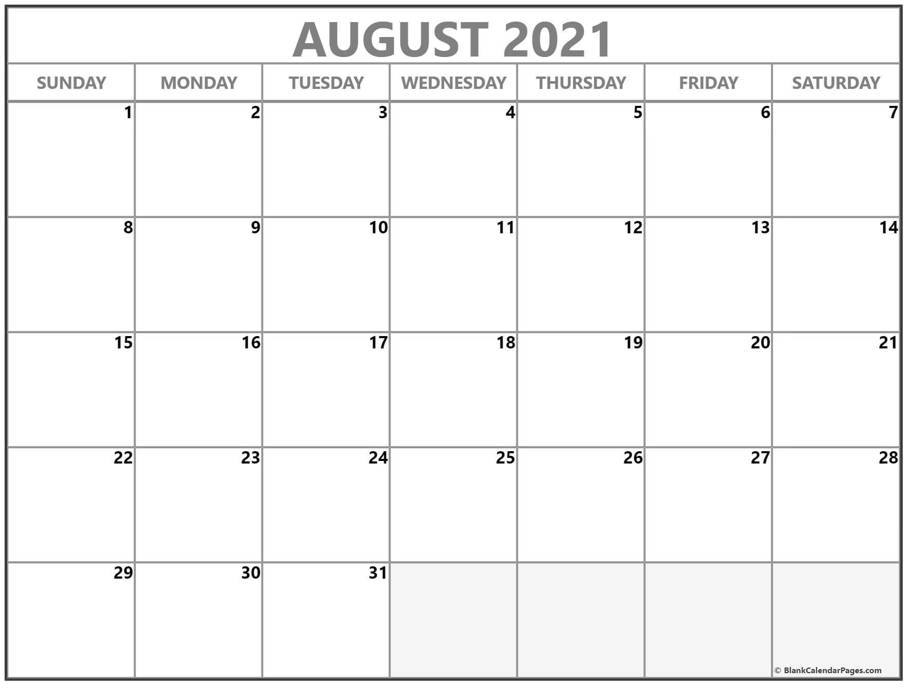 Take Leo August 2021 Calender