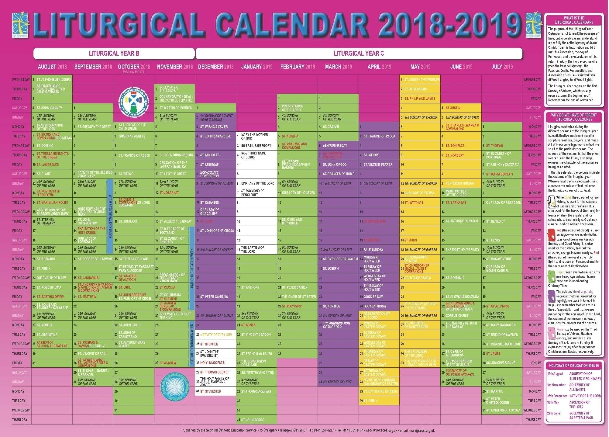 Take Liturgical Calendar 2021 Catholic Pdf