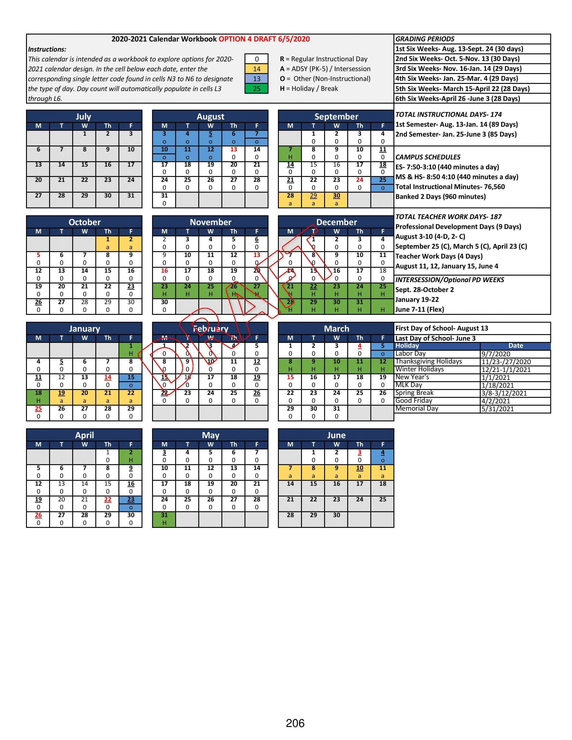 Take Mid Del Pulic Schools Fall 2021 Calendar