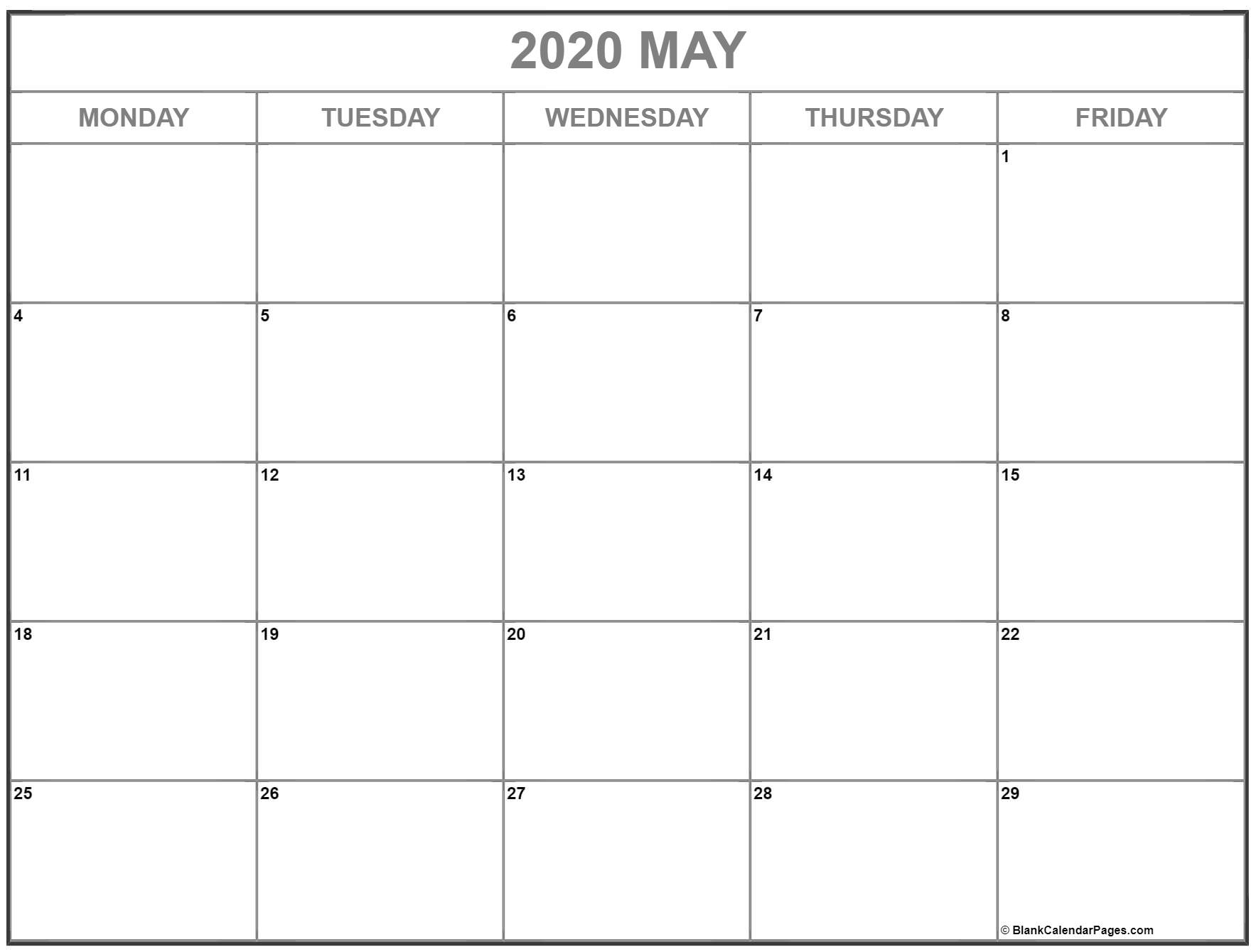 Take Monday Through Friday Blank Schedule