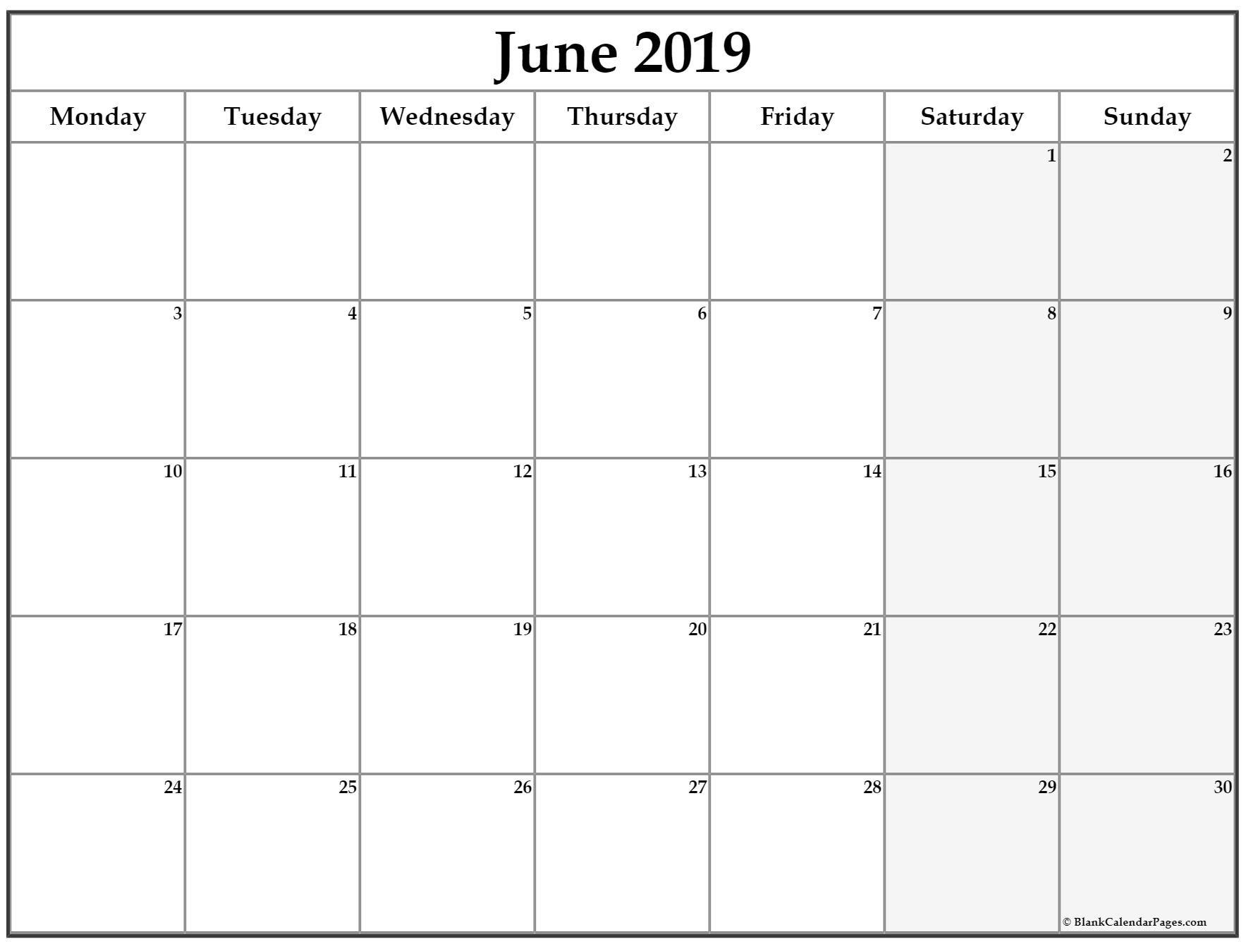 Take Monday To Sunday Calendar
