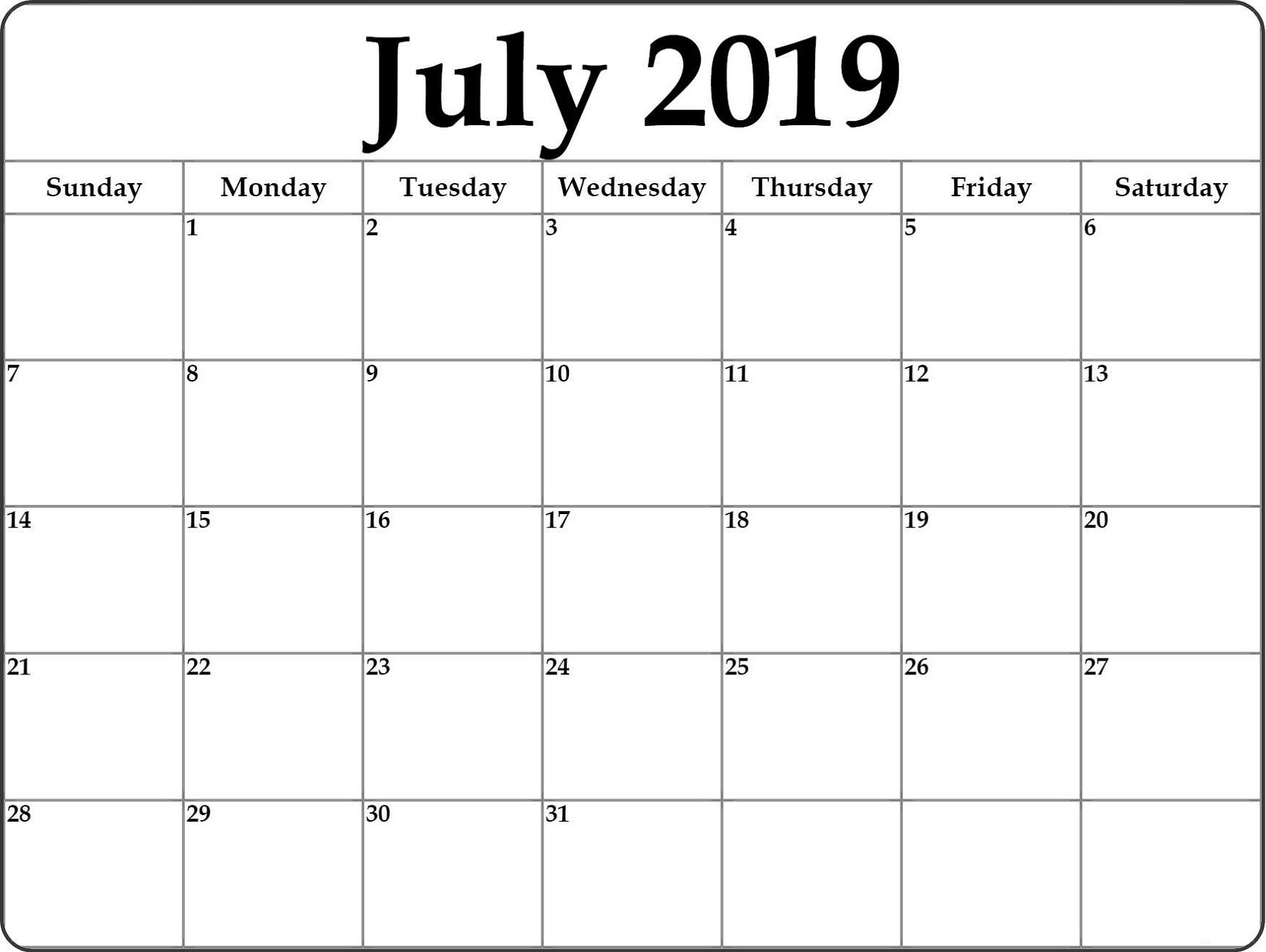 Take Month At A Glance Blank Calendar Template