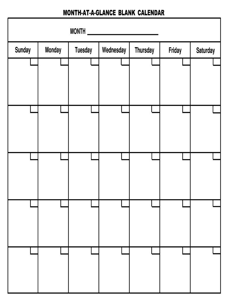Take Month At Glance Printable