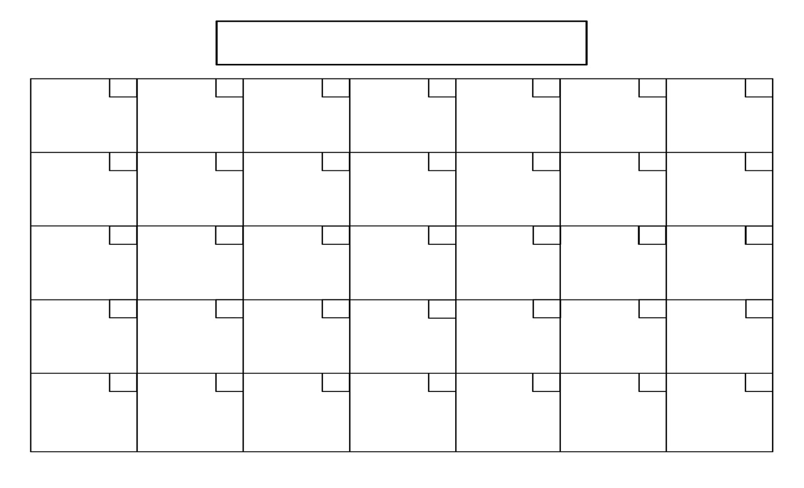 Take Monthly Calendar Printable 8X11