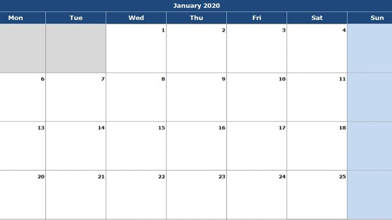Take Monthly Editable Calendars