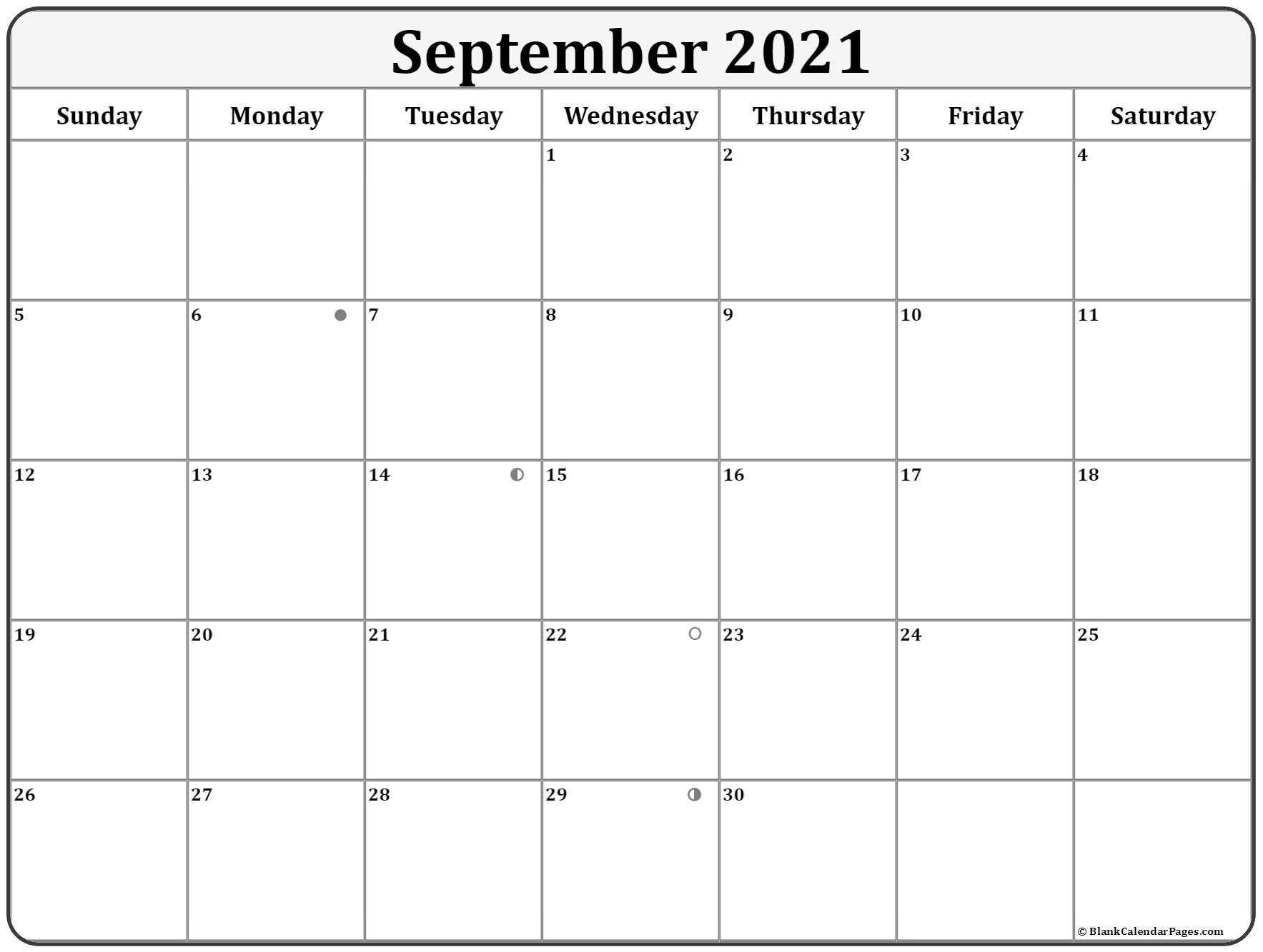 Take Moon Chart September 2021