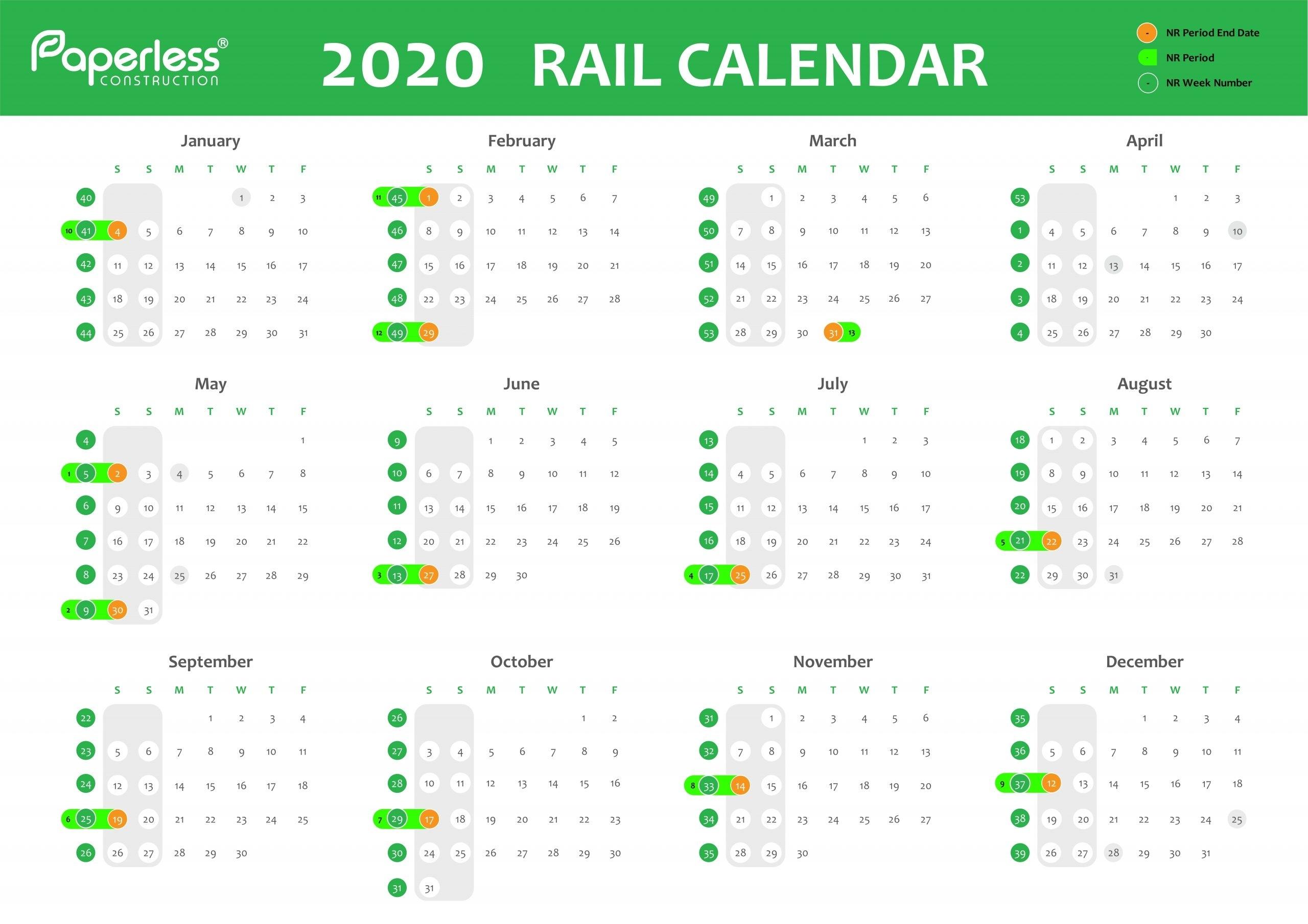 Take Network Rail Week Numbers