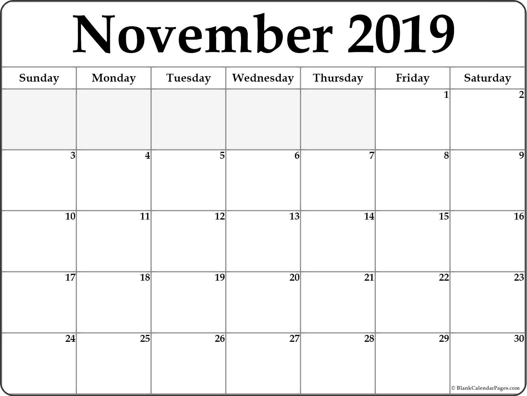 Take November Calendar Clip Art