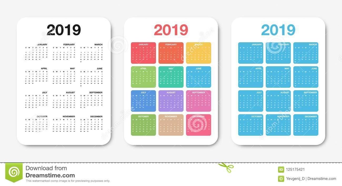 Take Pocket Calendar Printable