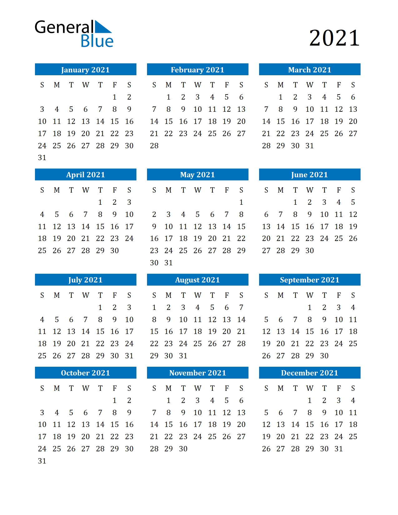 Take Print Calendar Year 2021 No Download