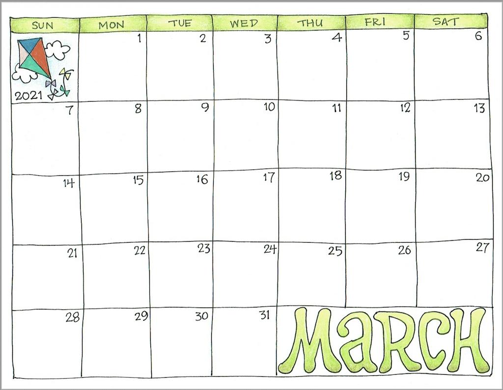Take Print Free Calendar 2021 By Month