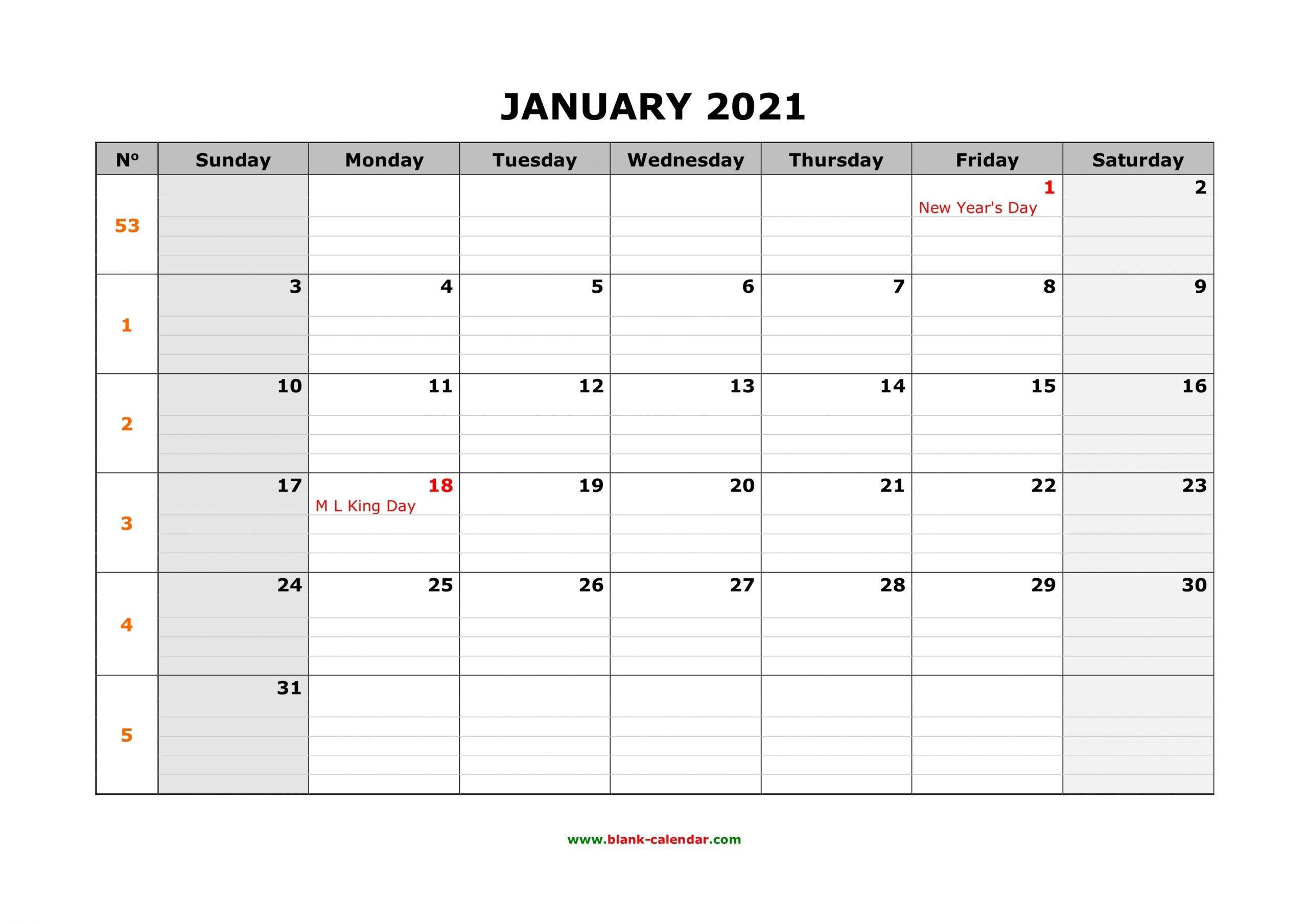 Take Printable 30 Day Calendar 2021