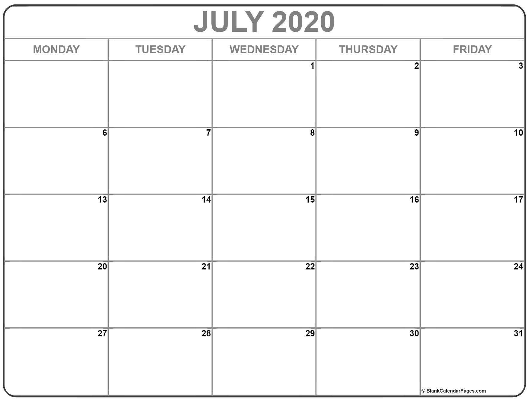 Take Printable Calendar Monday Sunday