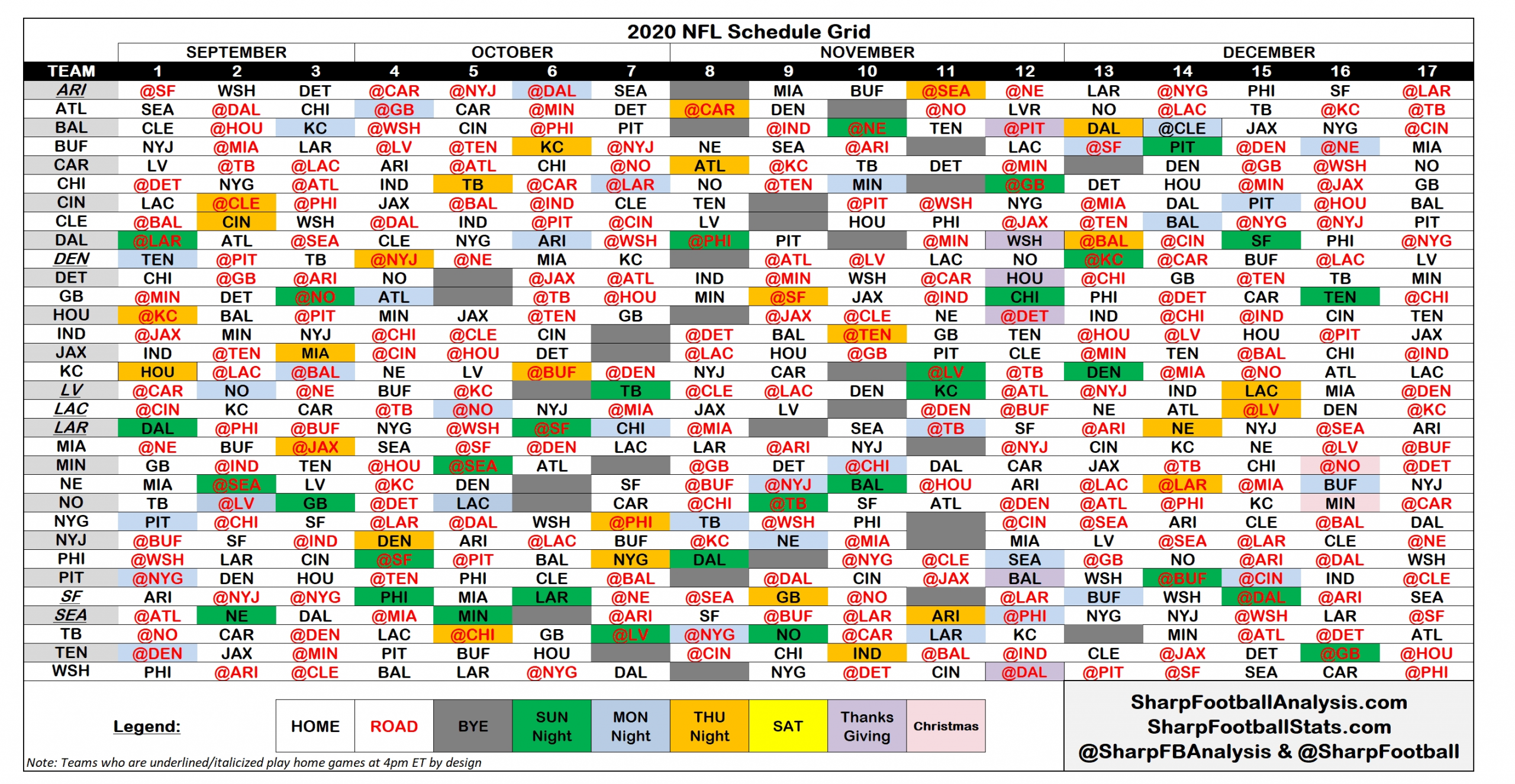 Take Printable Full Nfl Schedule 2021 Season