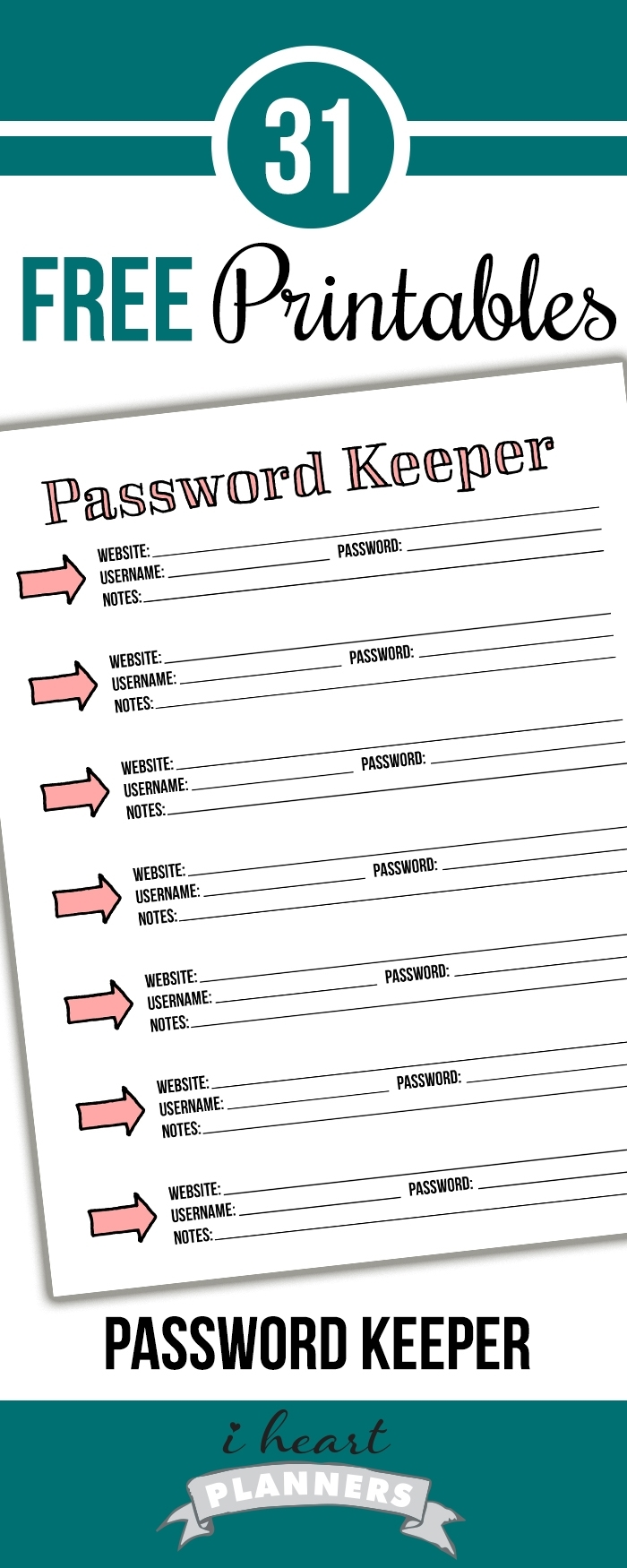 Take Printable Password Tracker Organizer