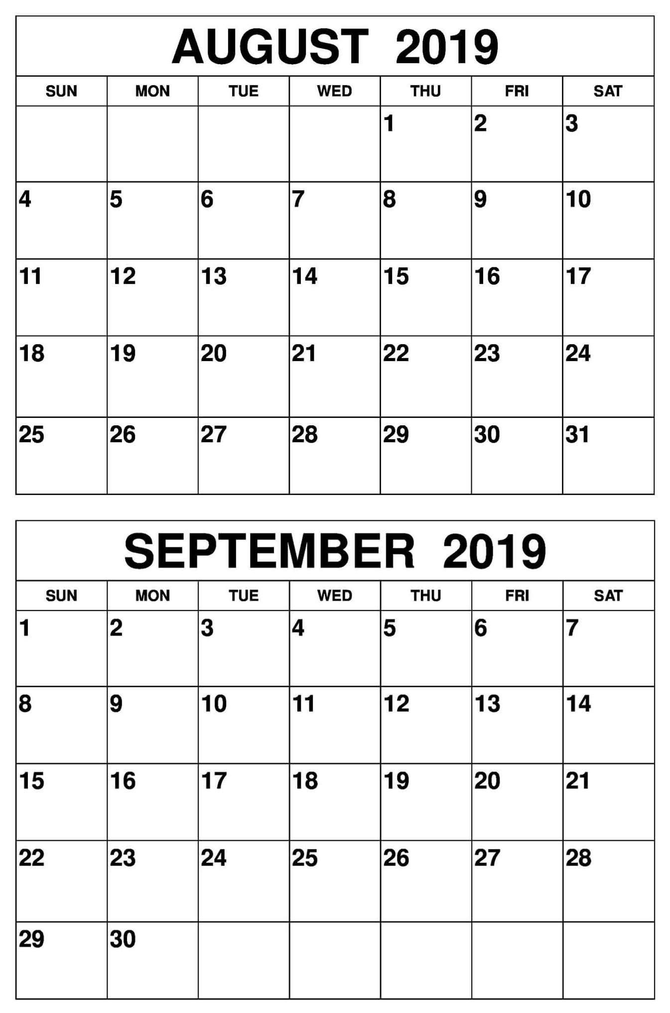 Take Printable September Calendar With Last Week Of August
