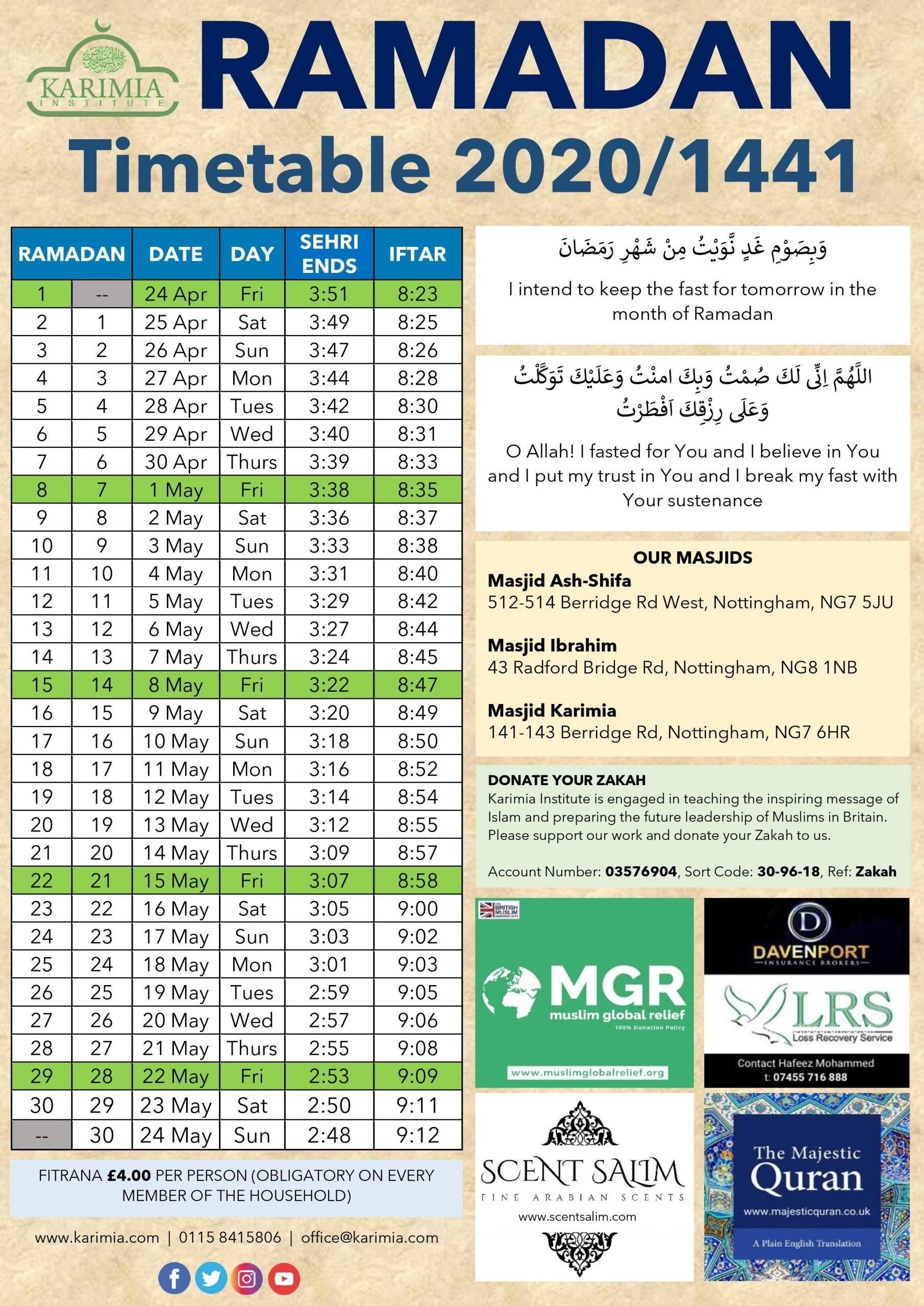Take Ramadan Future Dates