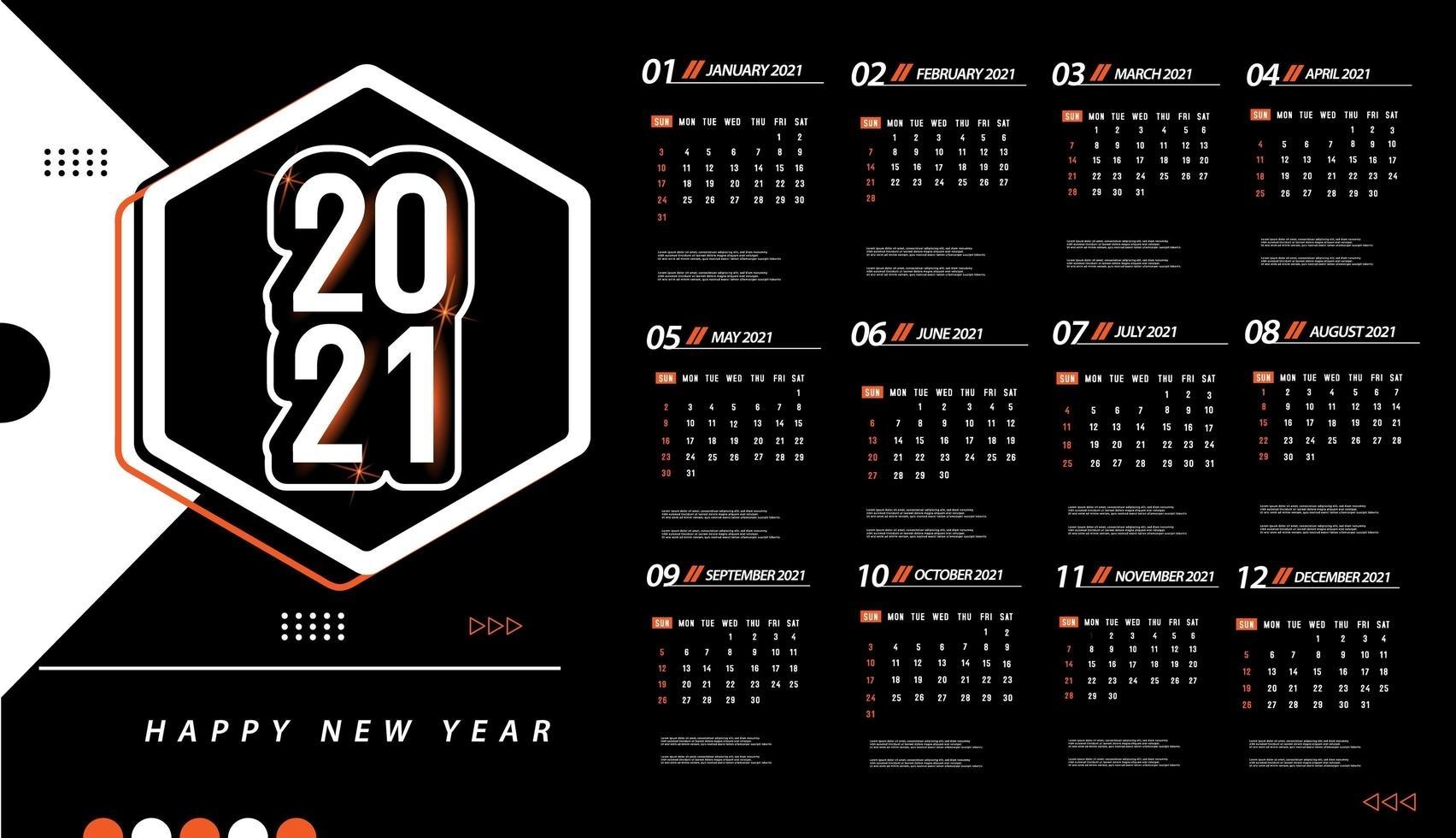 Take September 2021 Calendar Clip Art