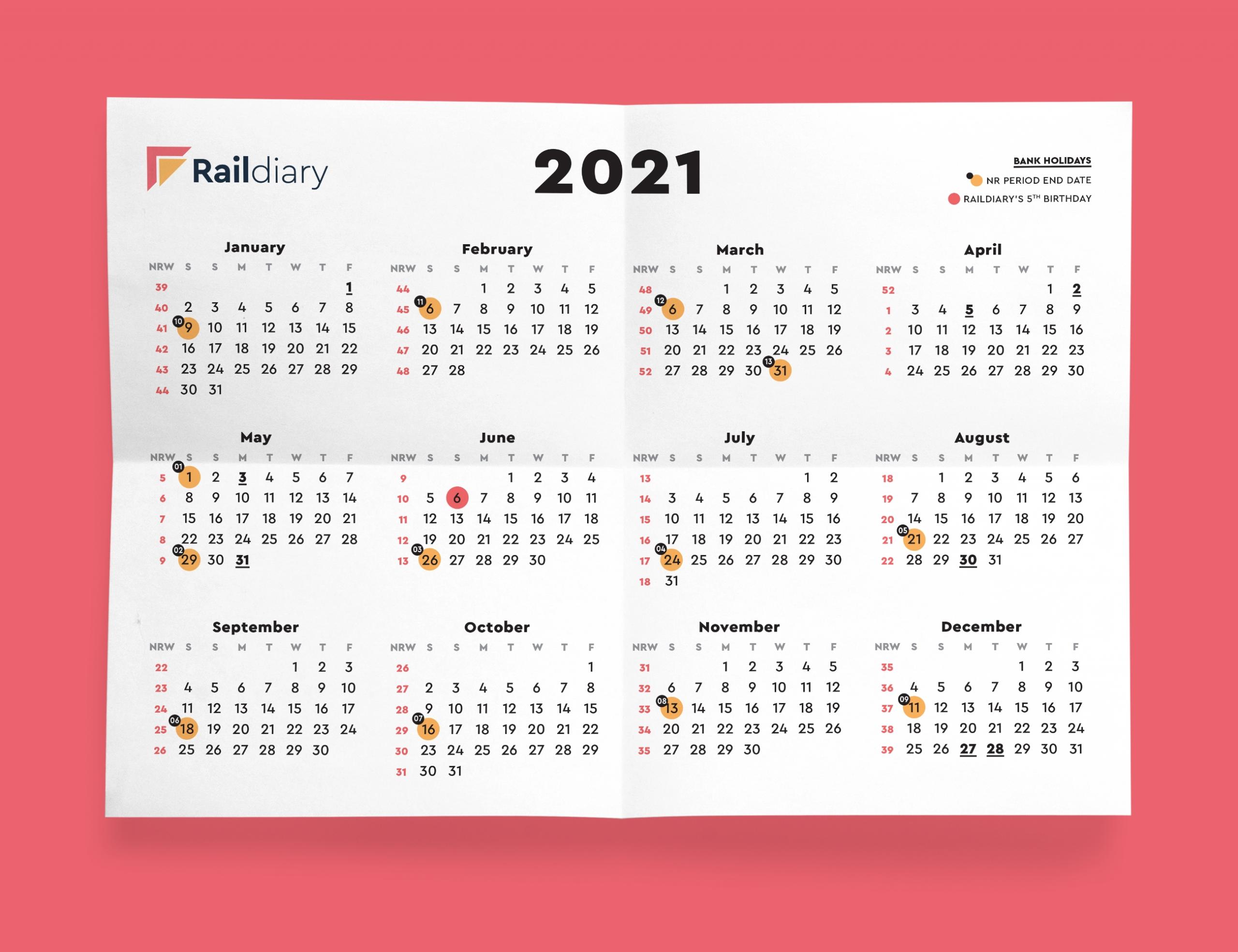 Take Week 42 And Week 43 Rail Calendar