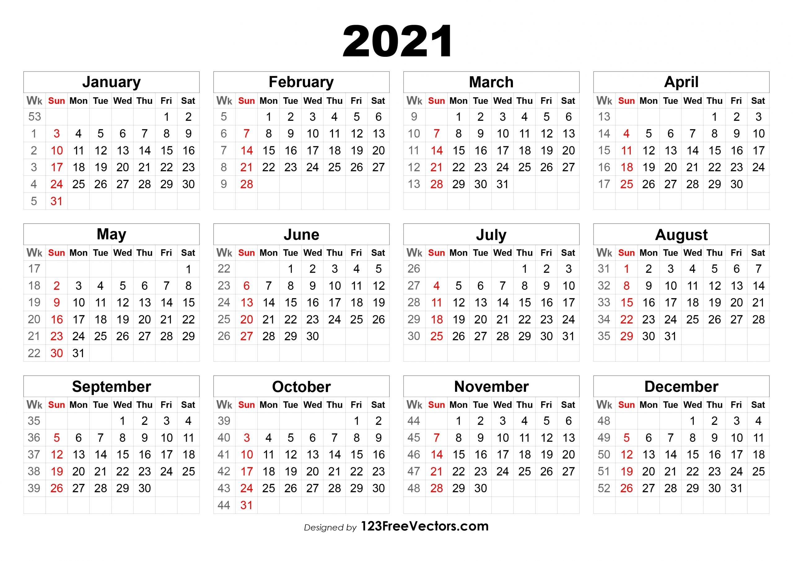 Take Week Calendar 2021 Sunday To Saturday