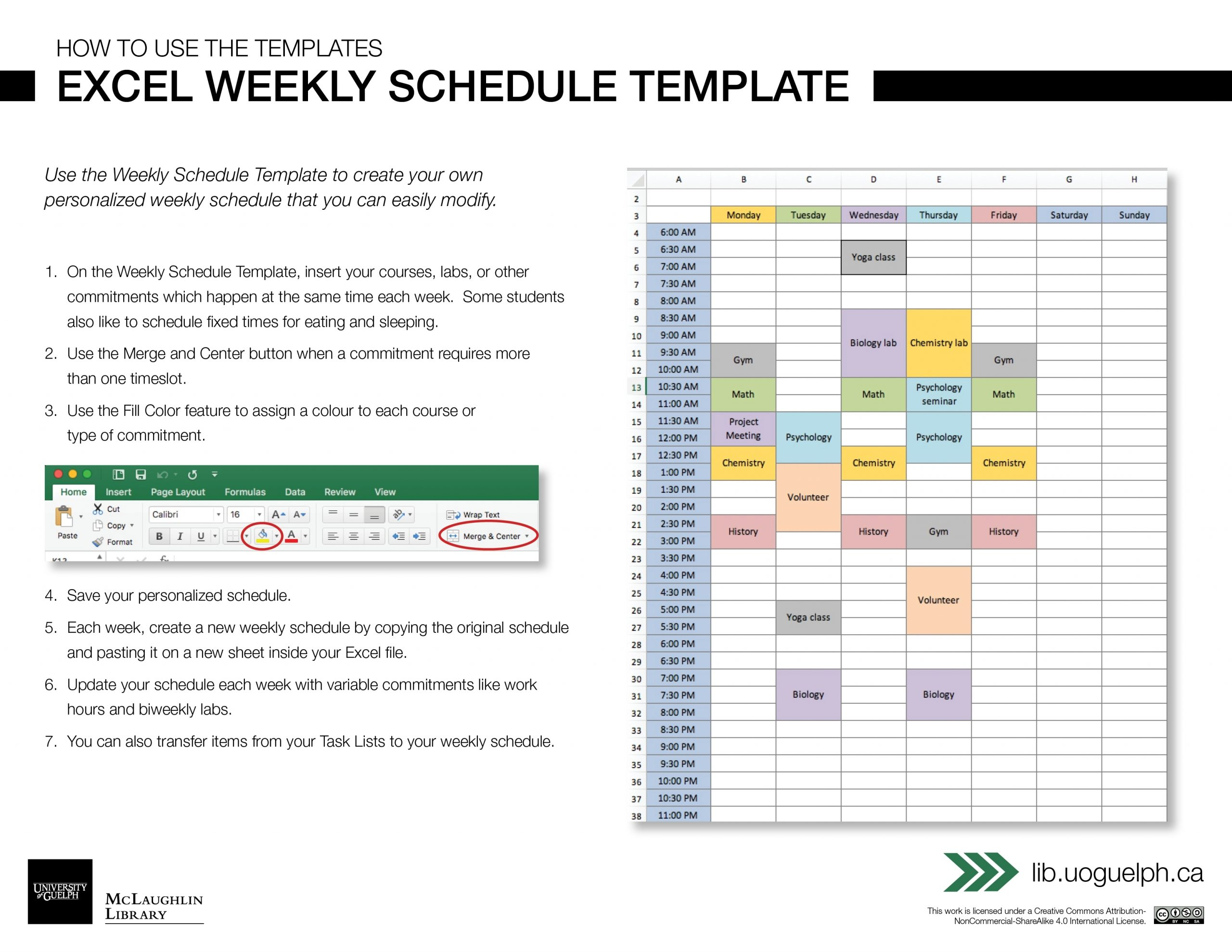 Take Weekly Am Pm Schedule