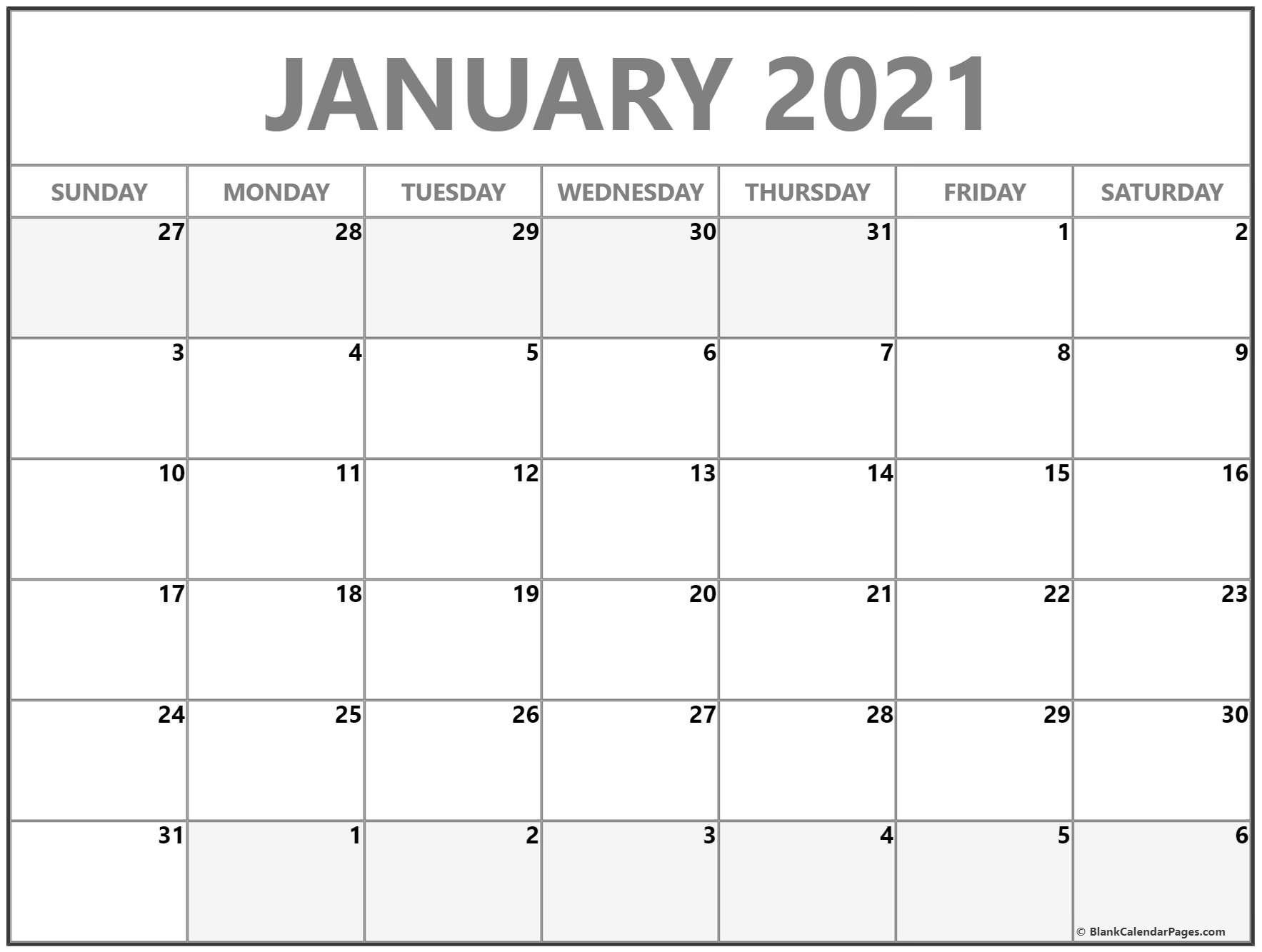 Take Writeable Monthly Calendar Template 2021